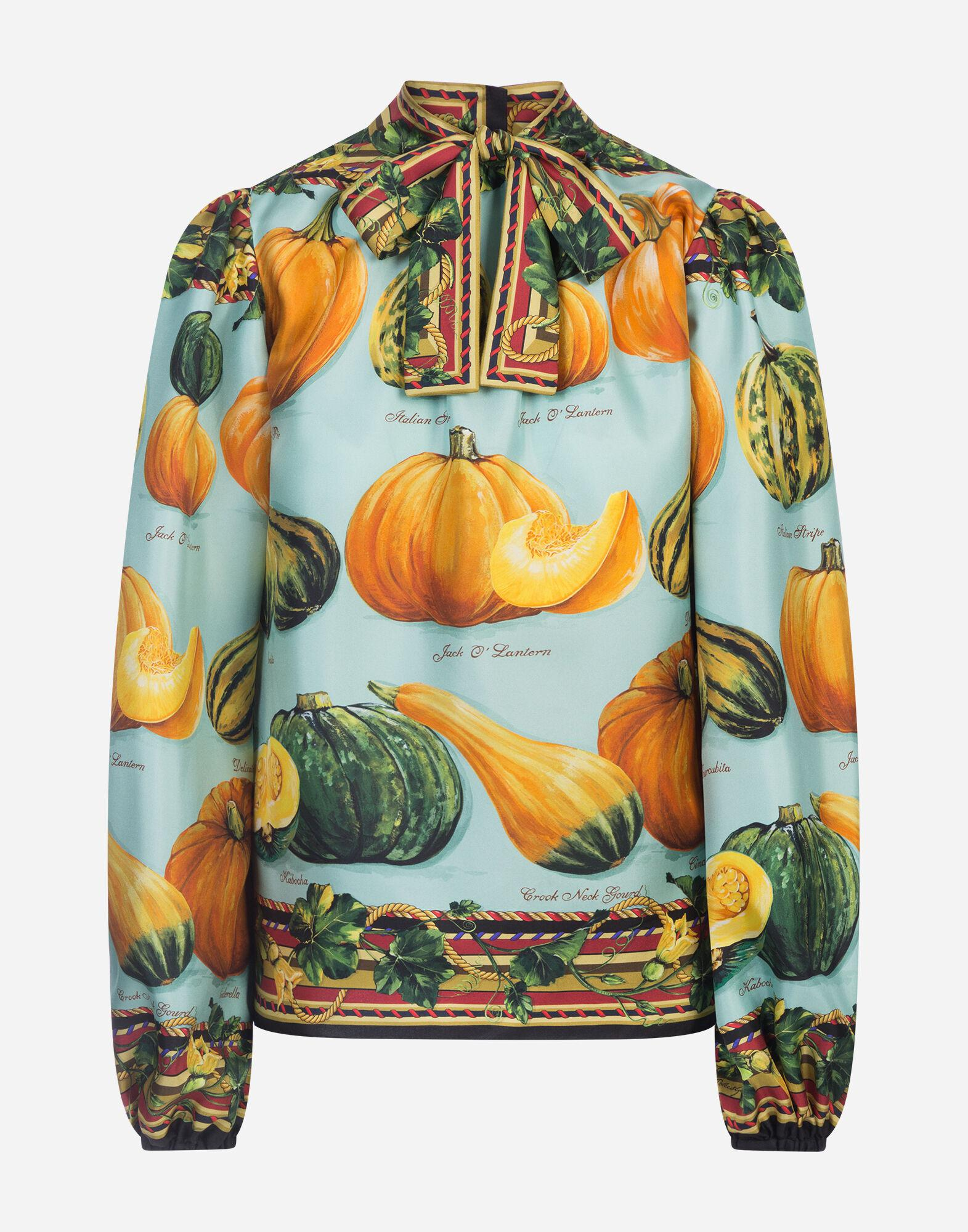 Twill blouse with pumpkin print 4