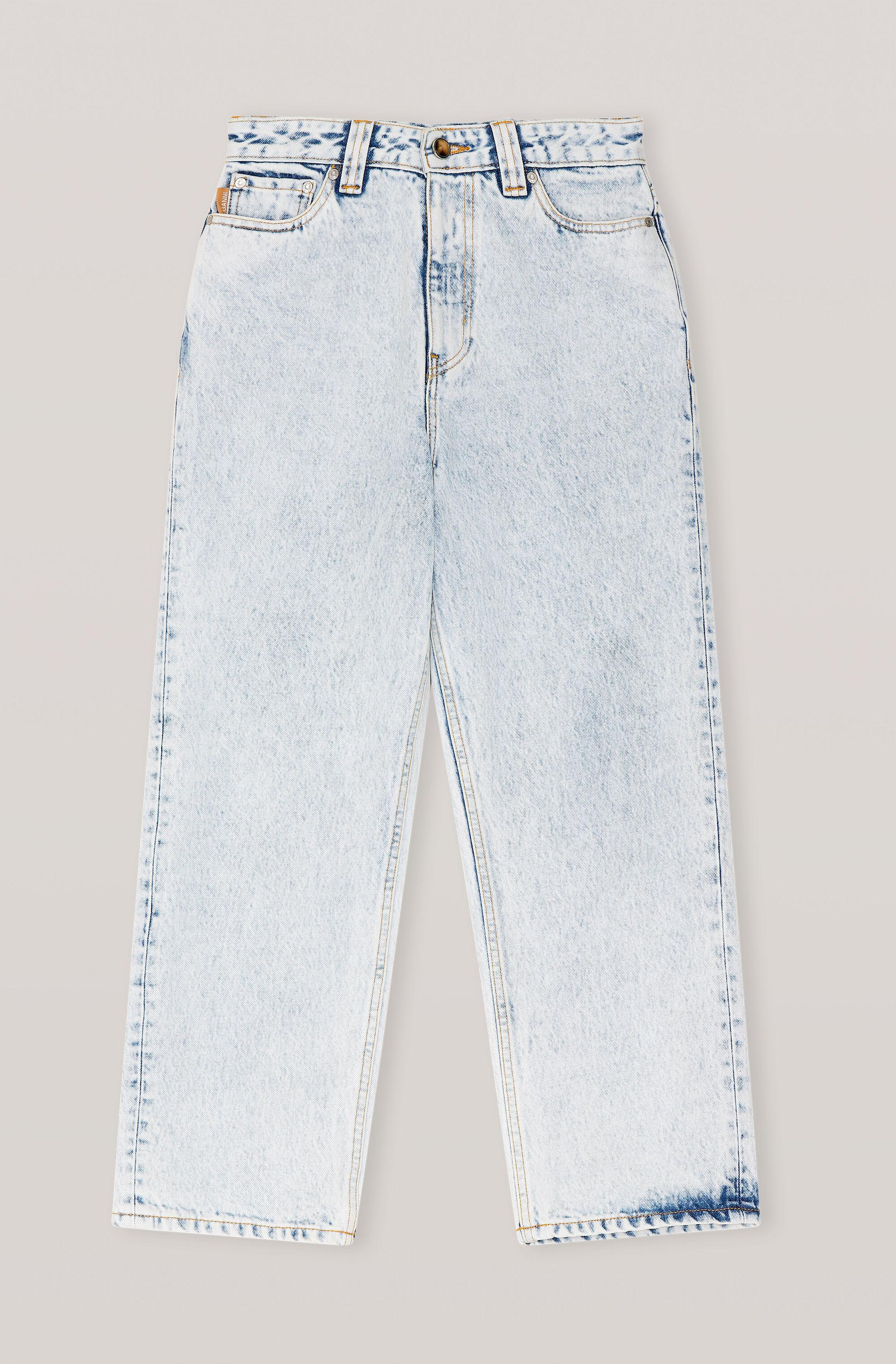 Washed Denim High-waisted Cropped Jeans 2