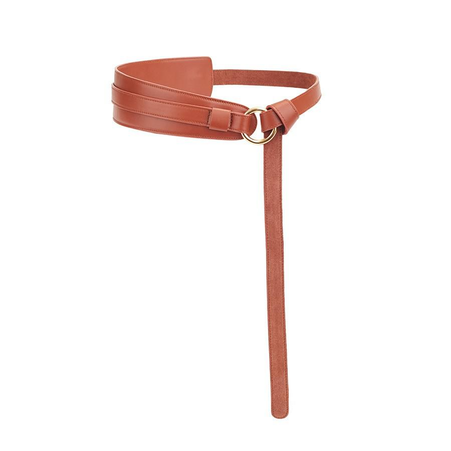 Women's Leather Wrap Belt in Caramel | Smooth Leather by Cuyana
