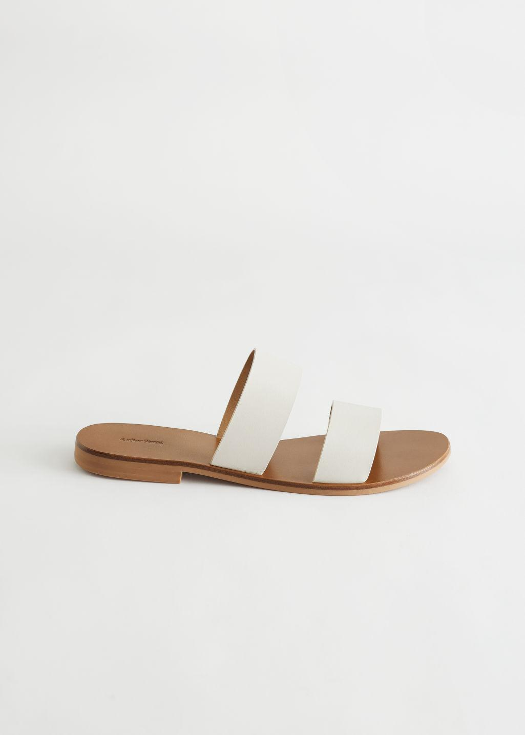Duo Strap Leather Sandals