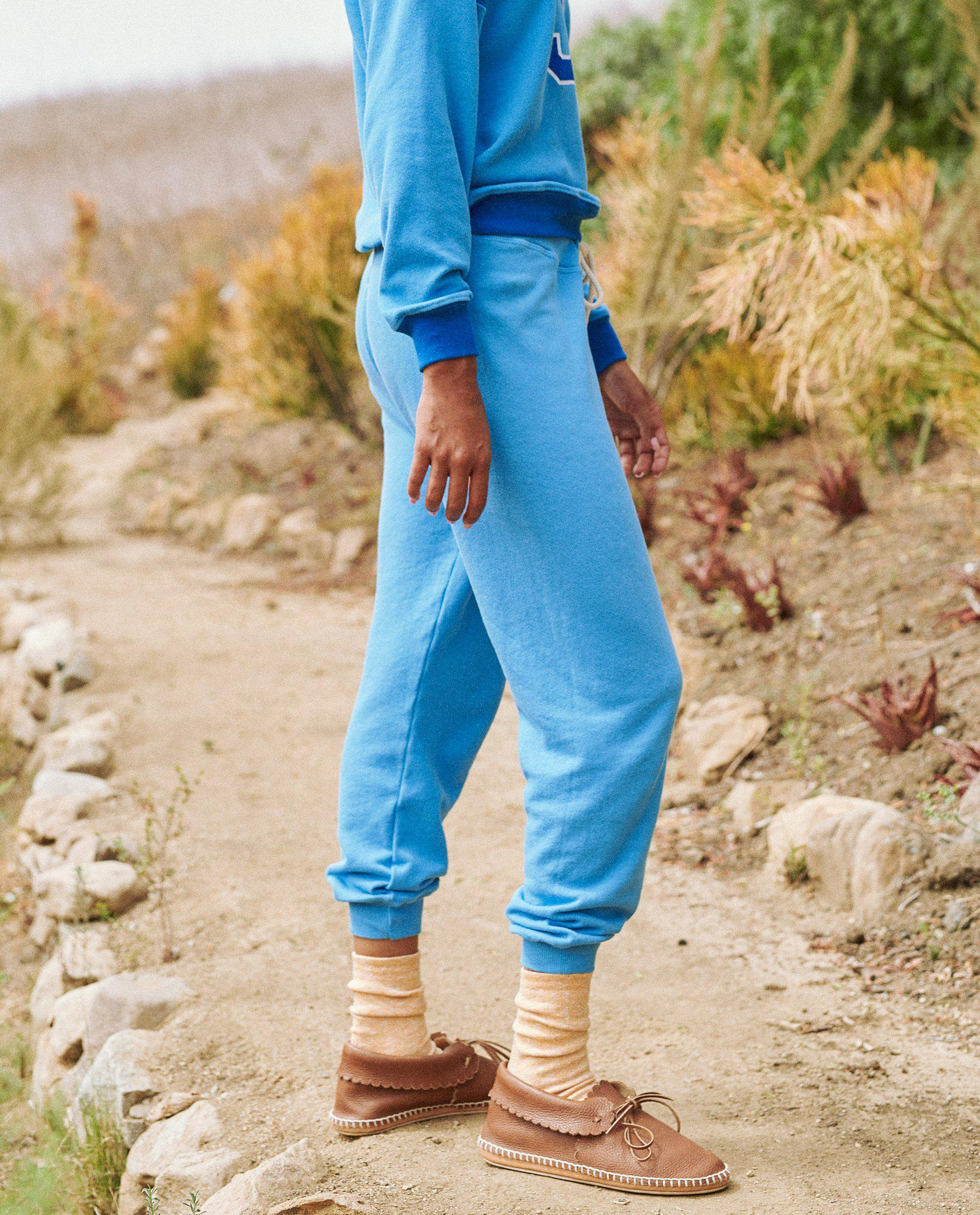 The Cropped Sweatpant. Novelty -- Rally Blue 2