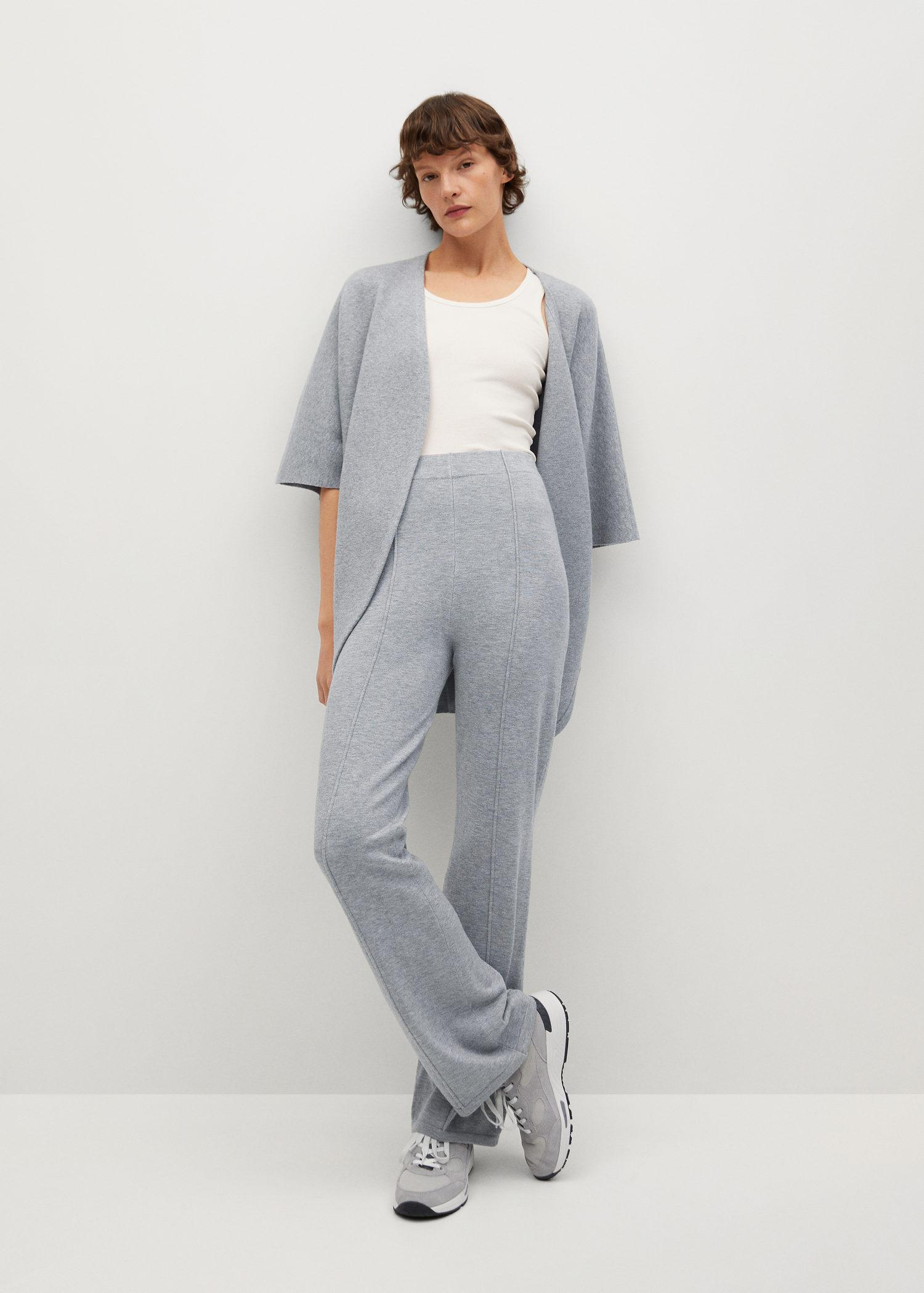Flared knitted pants 1
