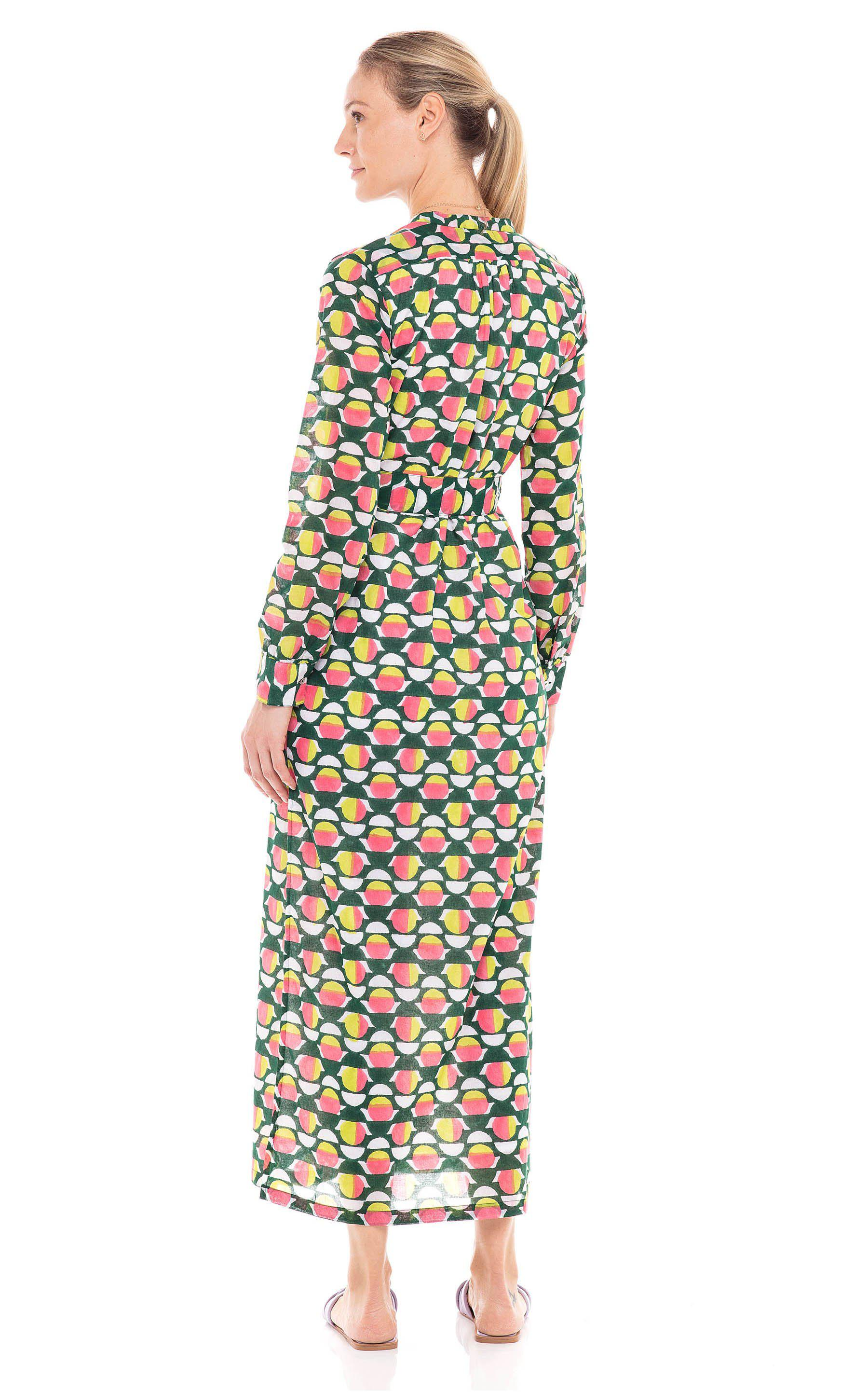 Crystal Dress Curlew Curve Lime Green 2