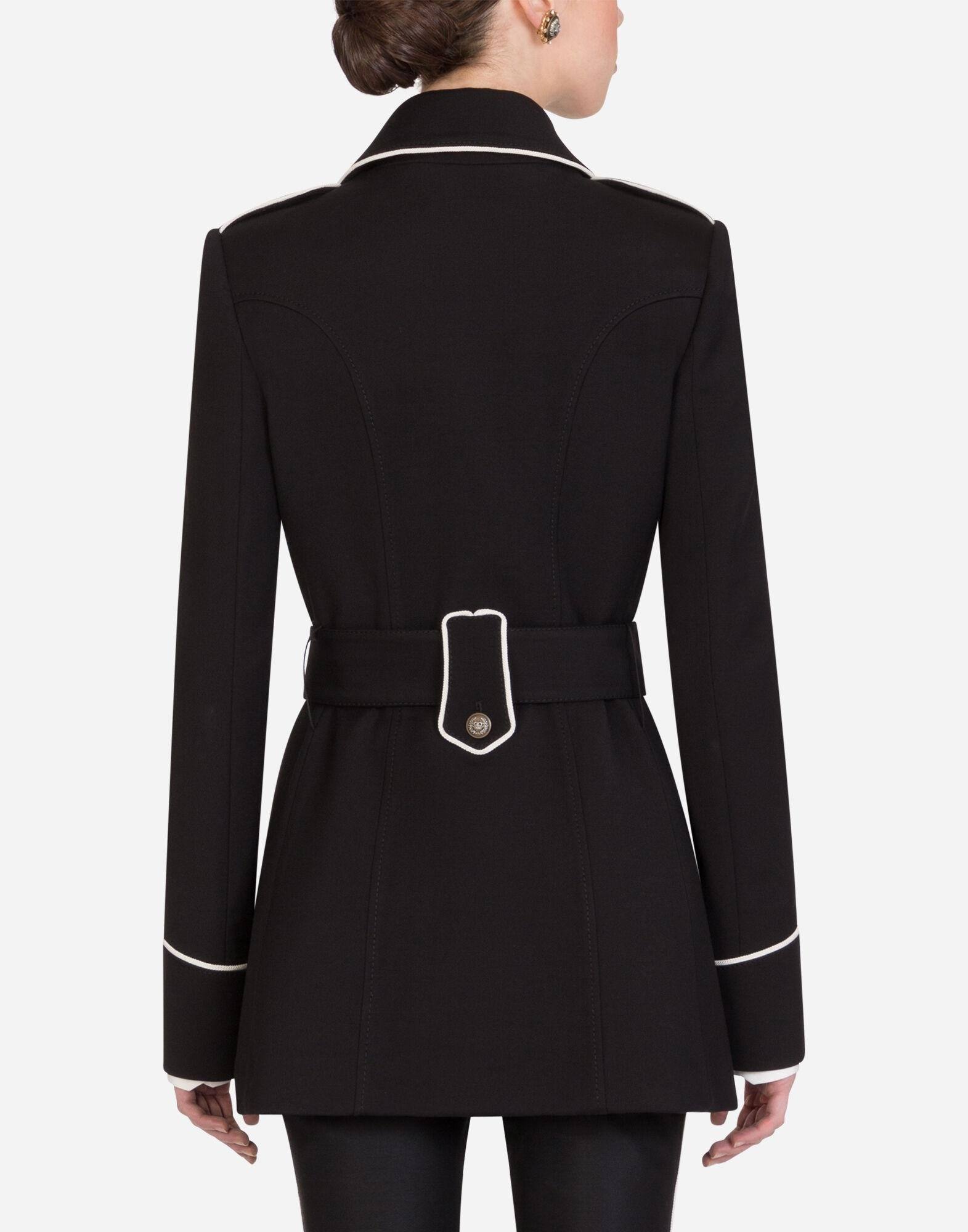 Woolen peacoat with decorative buttons 1