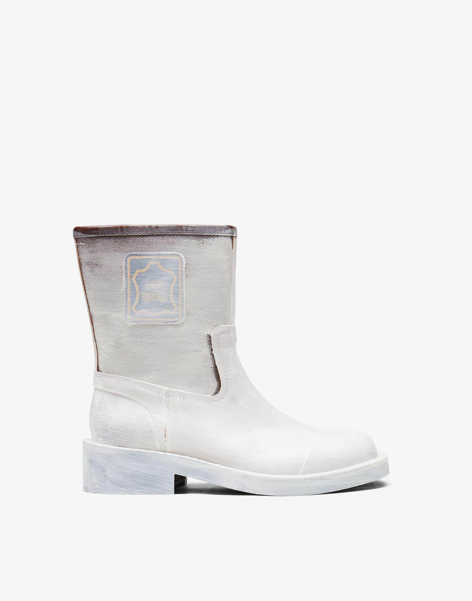 Inside out ankle boots