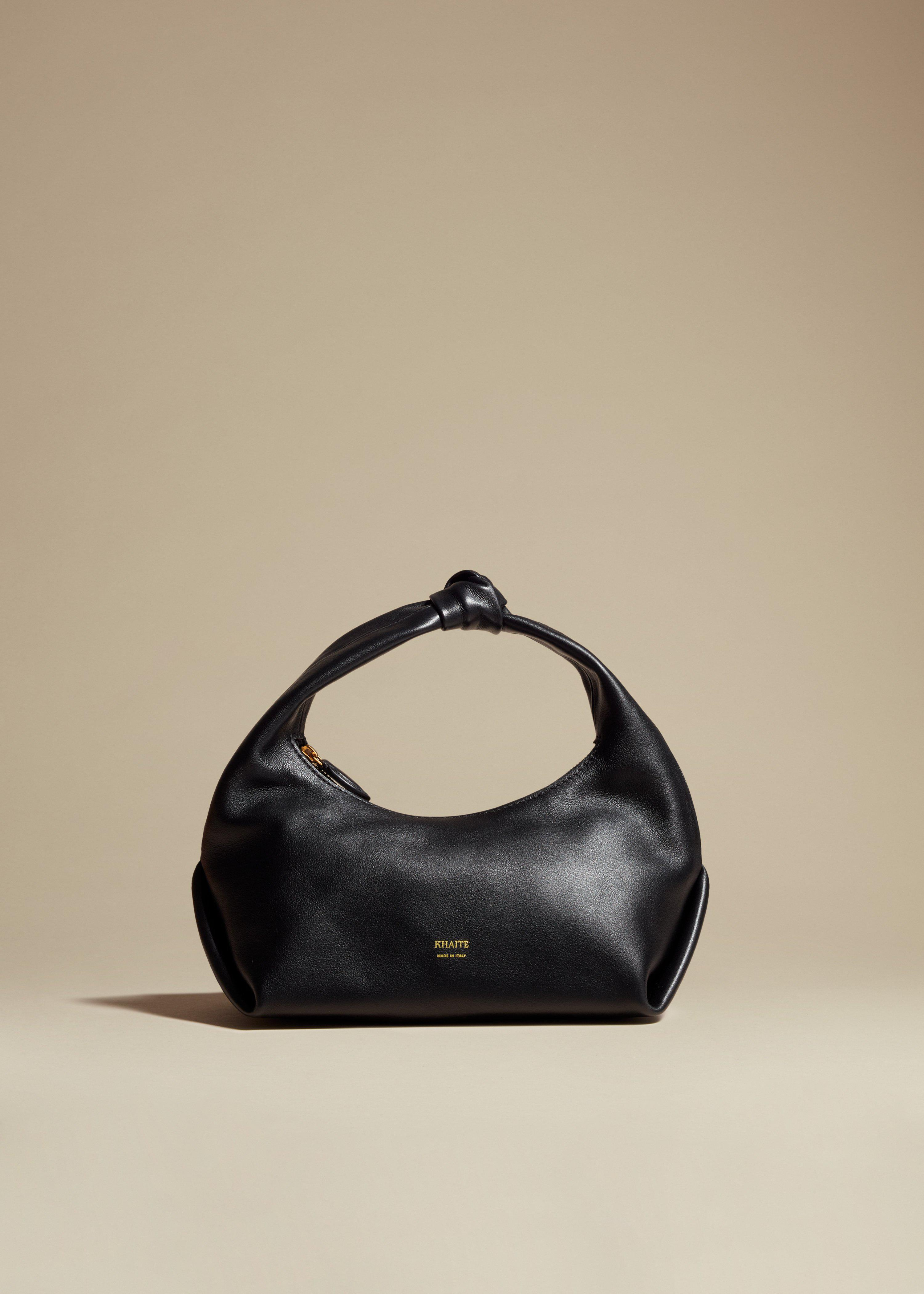 The Small Beatrice Hobo in Black Leather