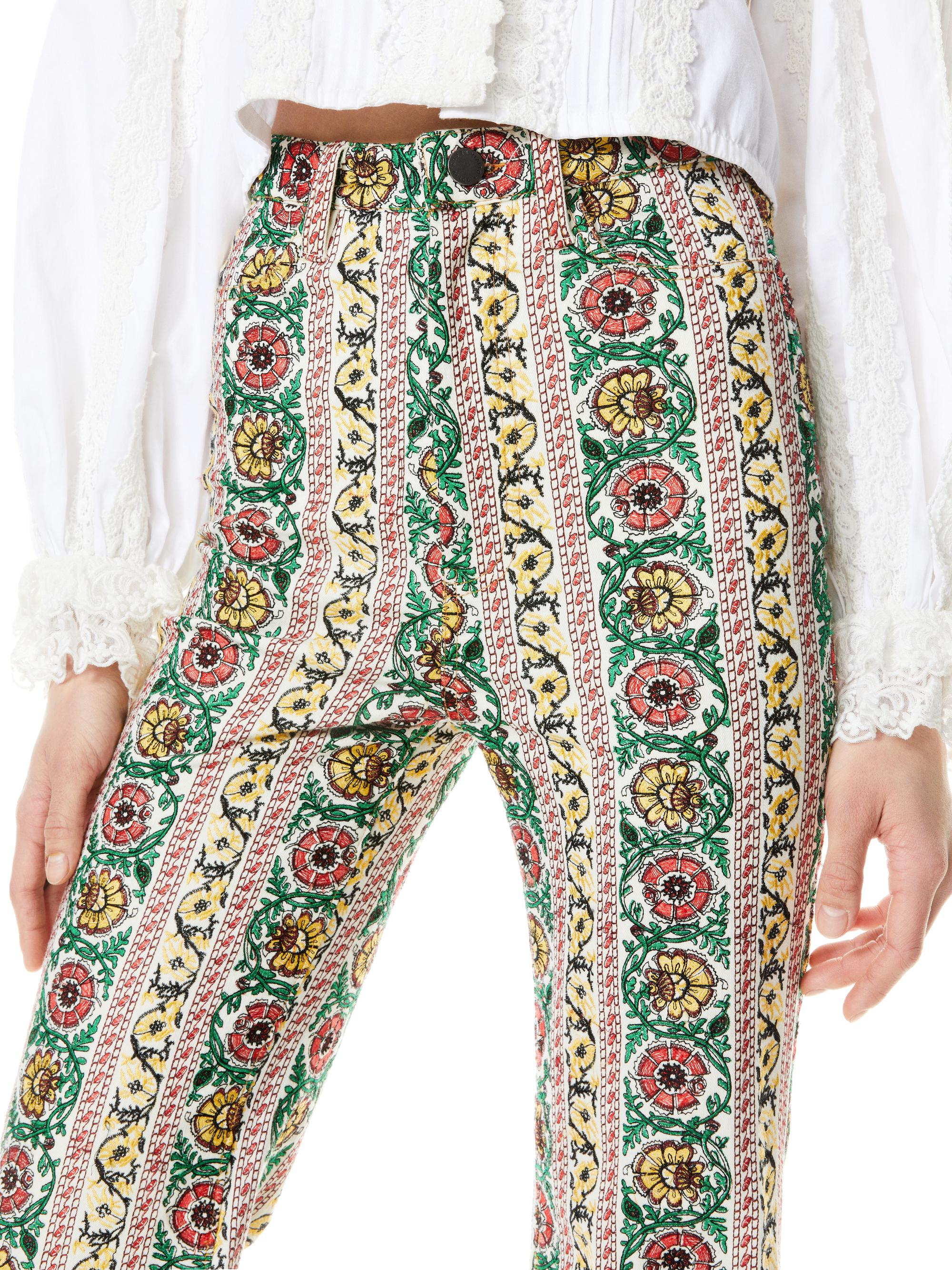 BENEDICT EMBROIDERED FLARE PANT 4