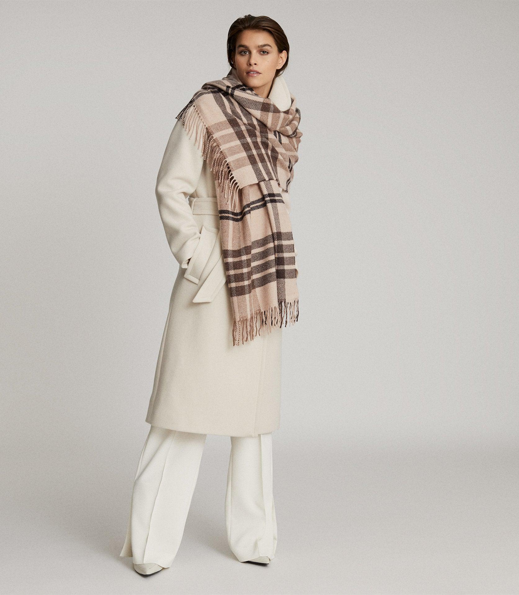 STEPH - WOOL CHECKED SCARF 1