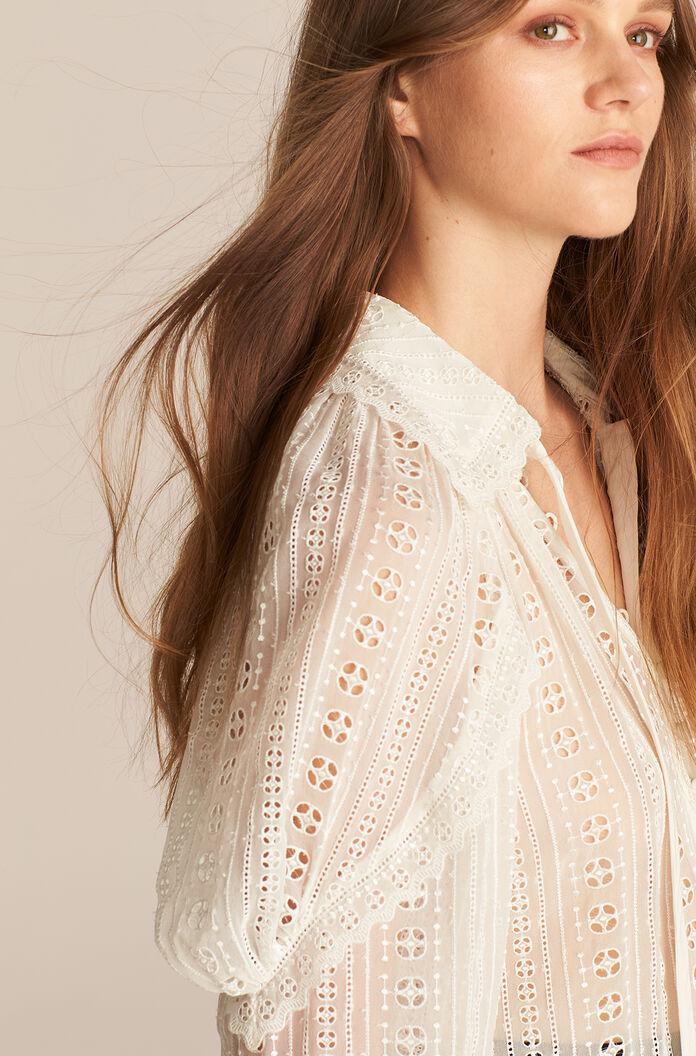LONG SLEEVE GEO EMBROIDERED BLOUSE 3