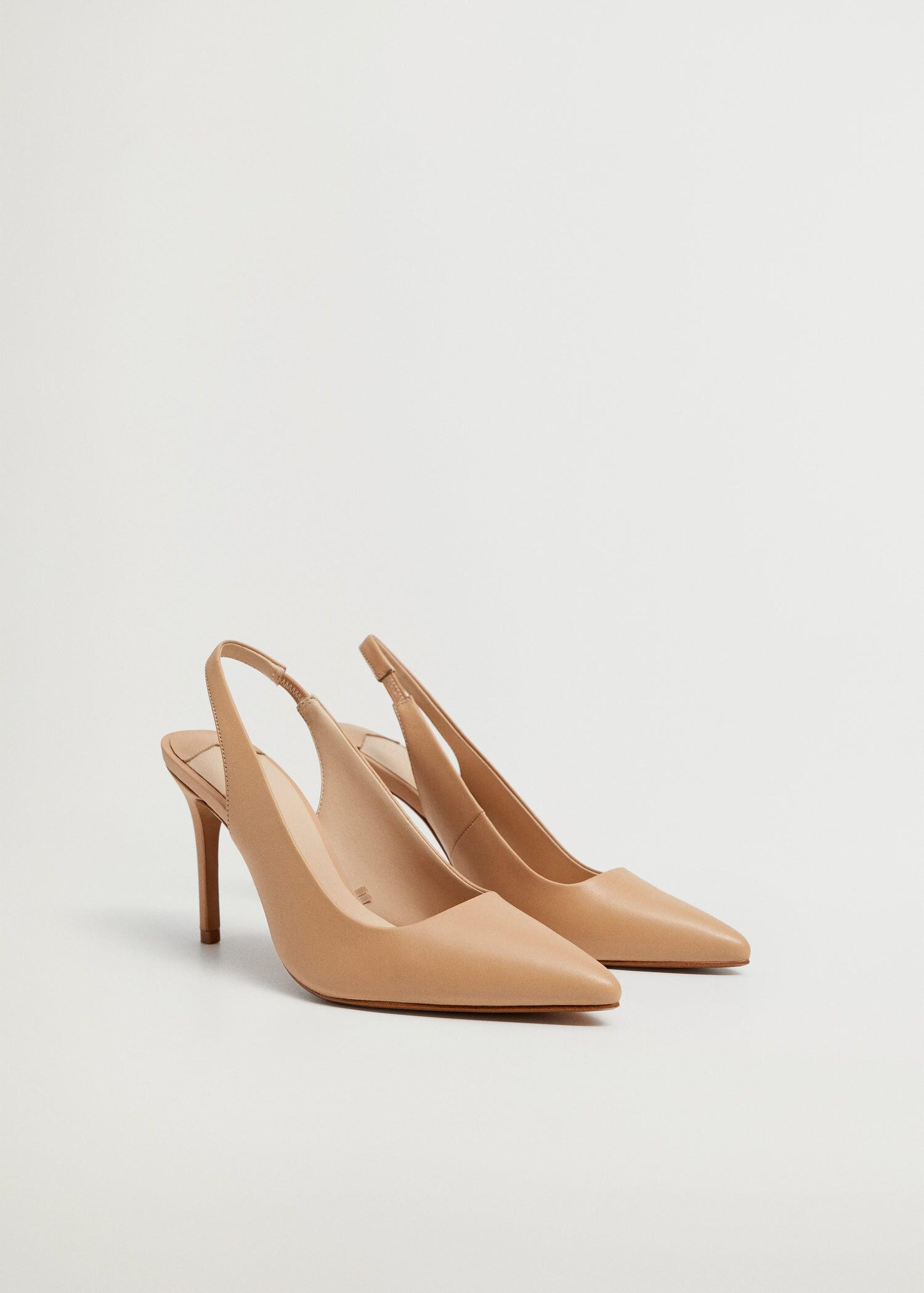 Sling back leather shoes 1