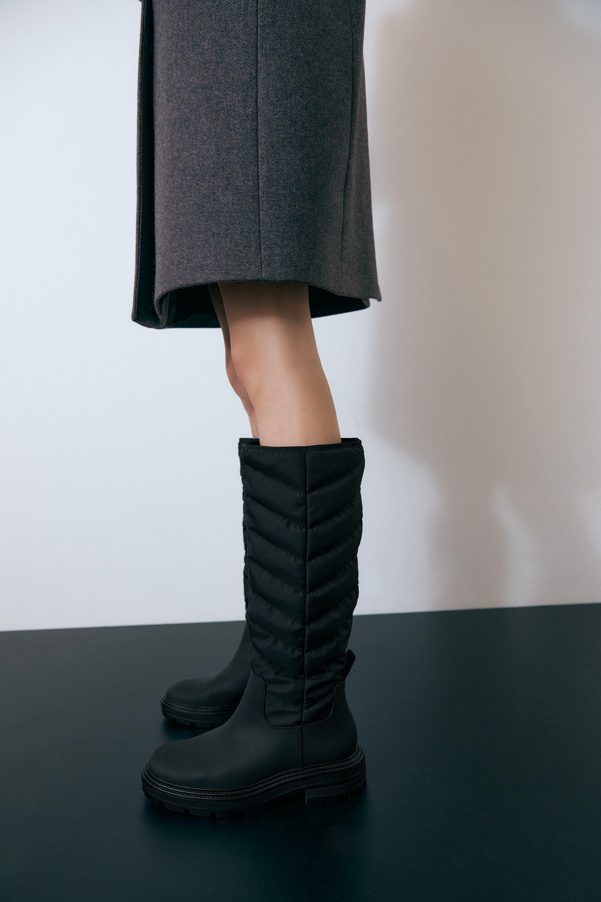 LOW HEEL QUILTED TALL BOOTS 1
