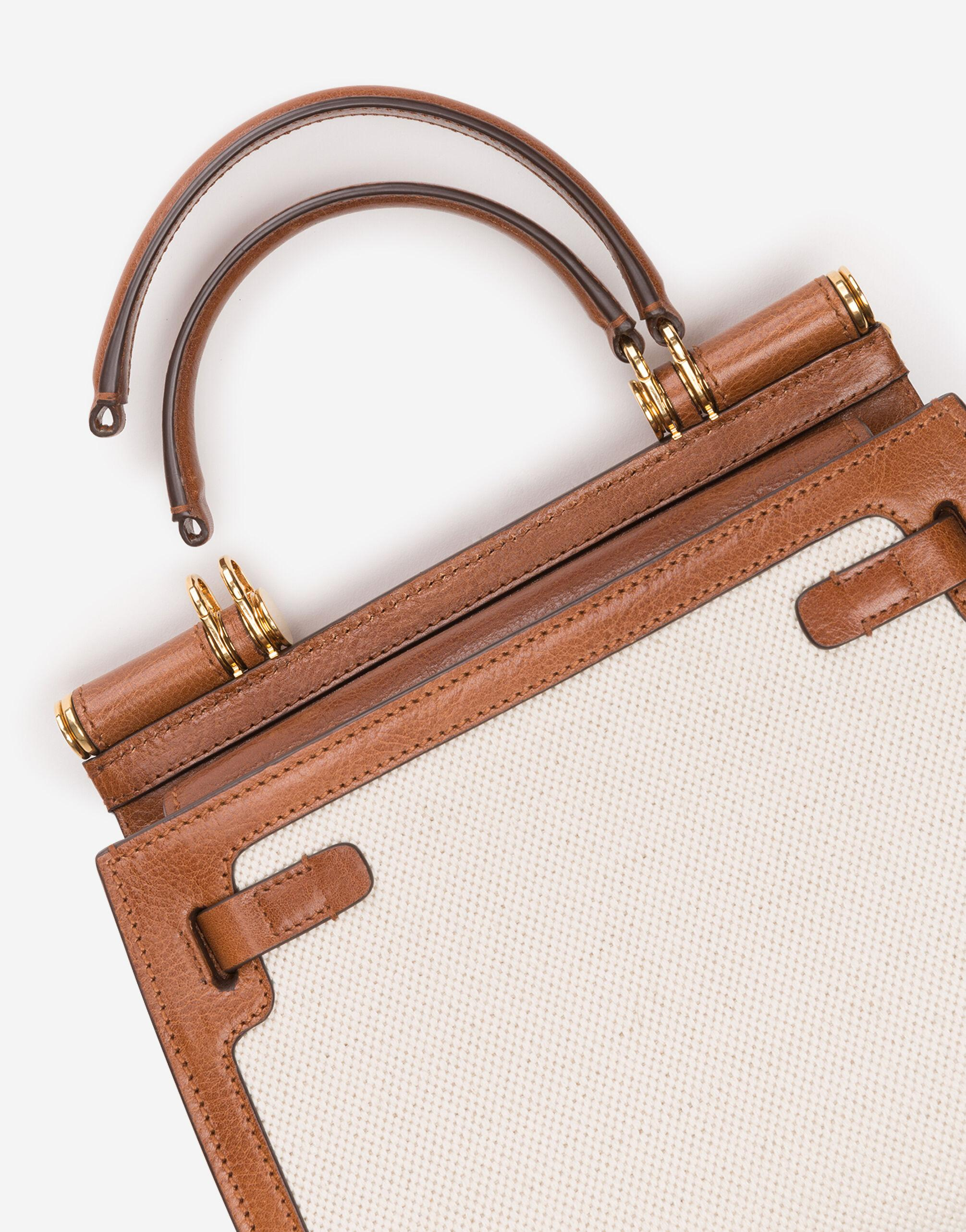 Medium Sicily 58 bag in canvas and cowhide 4