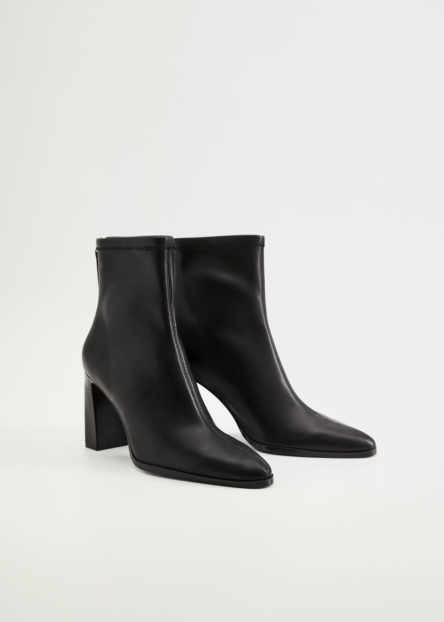 Elastic heeled ankle boot 1