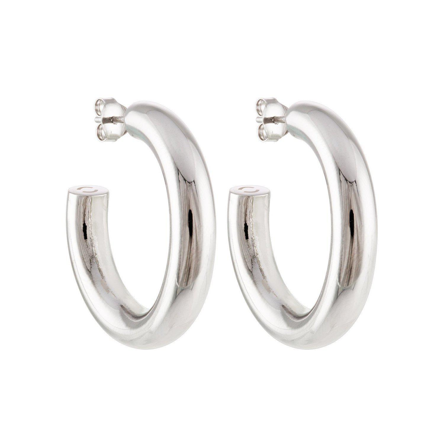 """1"""" Perfect Hoops in Silver"""