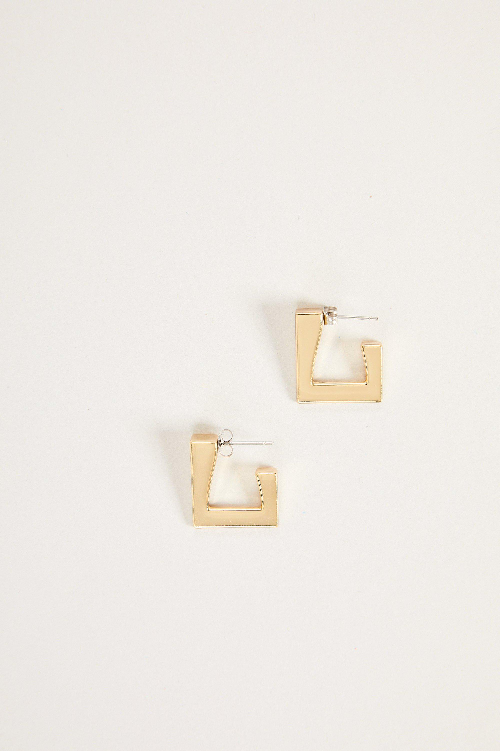 Triangle Earring in Gold 1