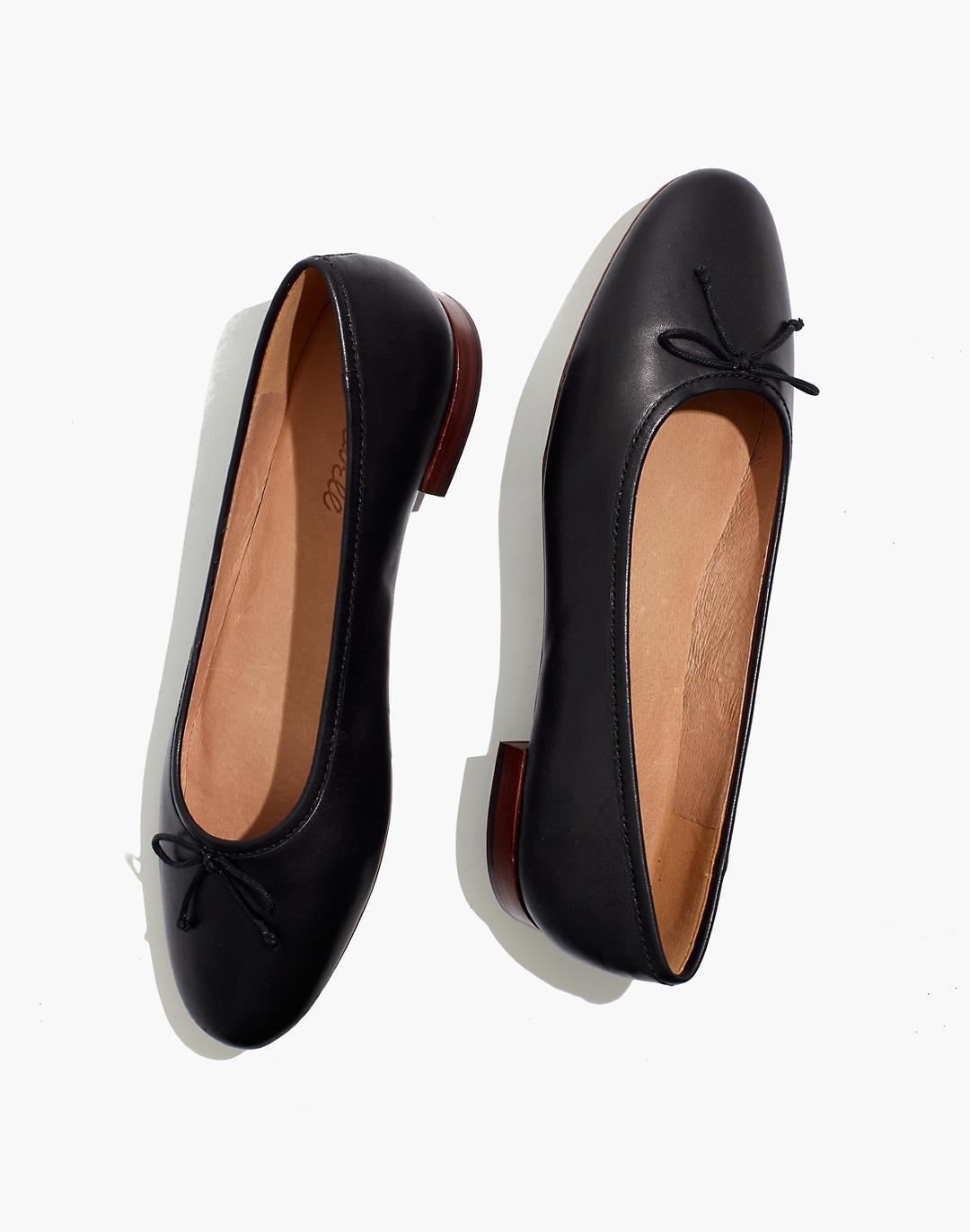 The Adelle Ballet Flat in Leather