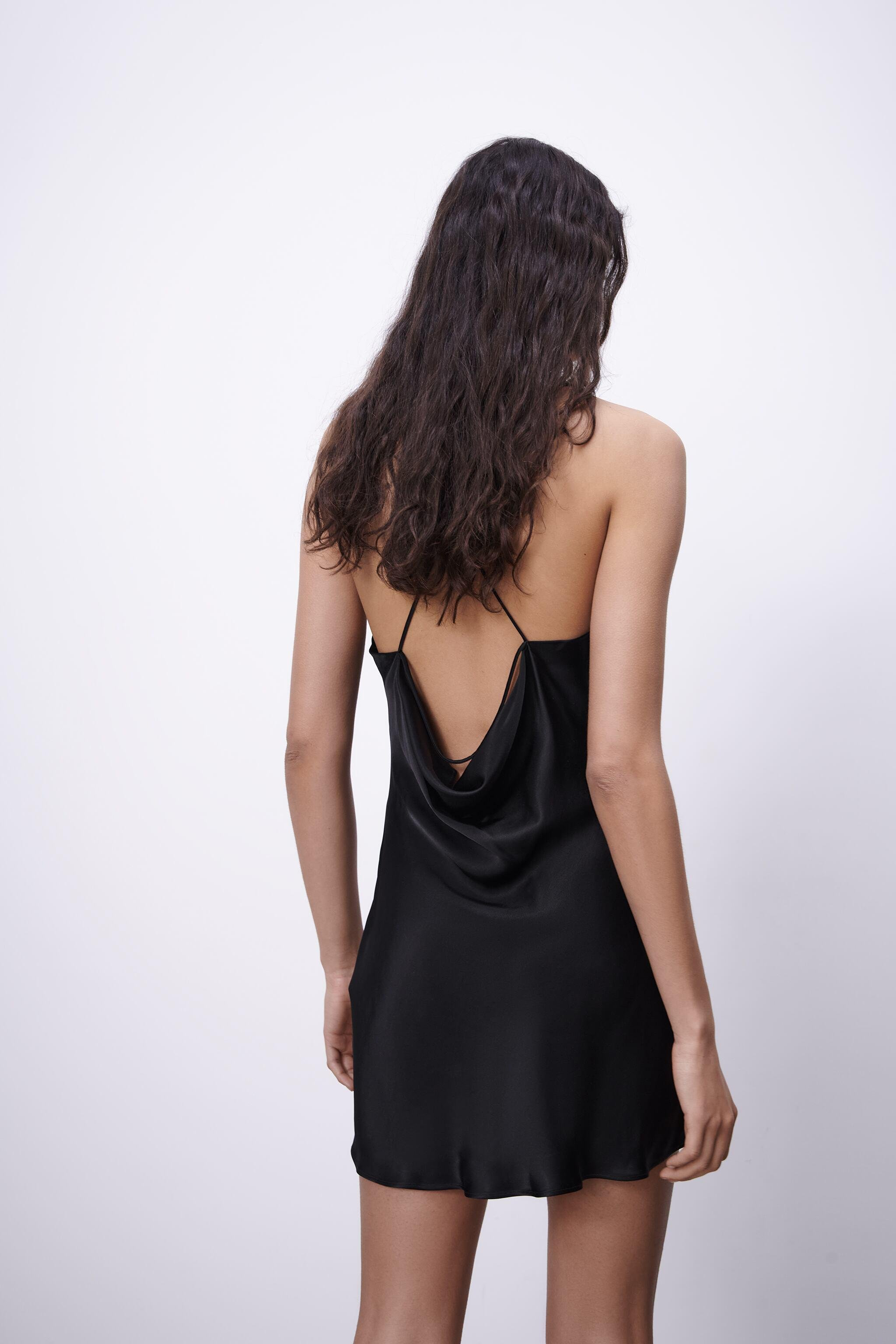 SATIN EFFECT DRESS WITH LACE 4