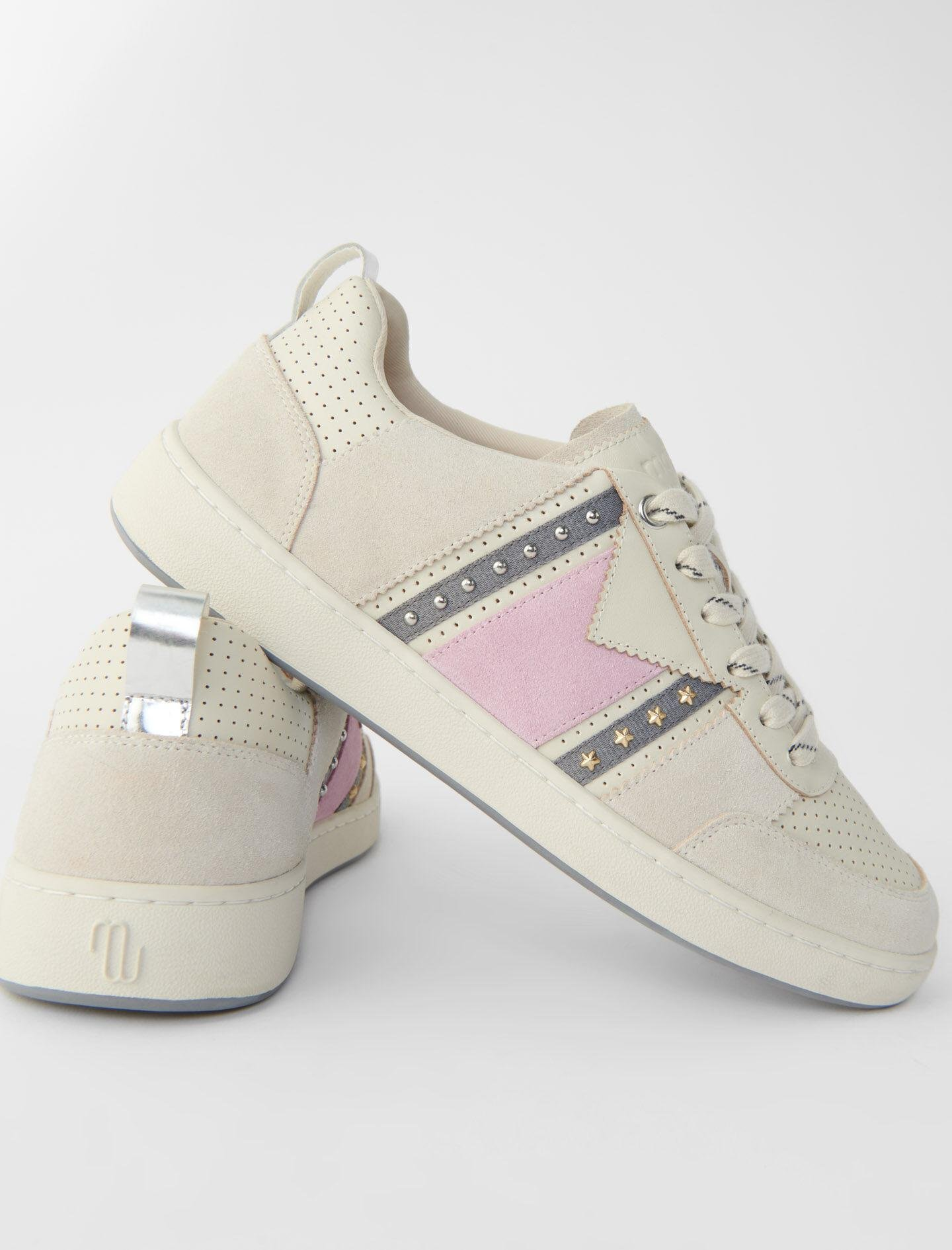 TWO-TONE LEATHER SNEAKERS 4