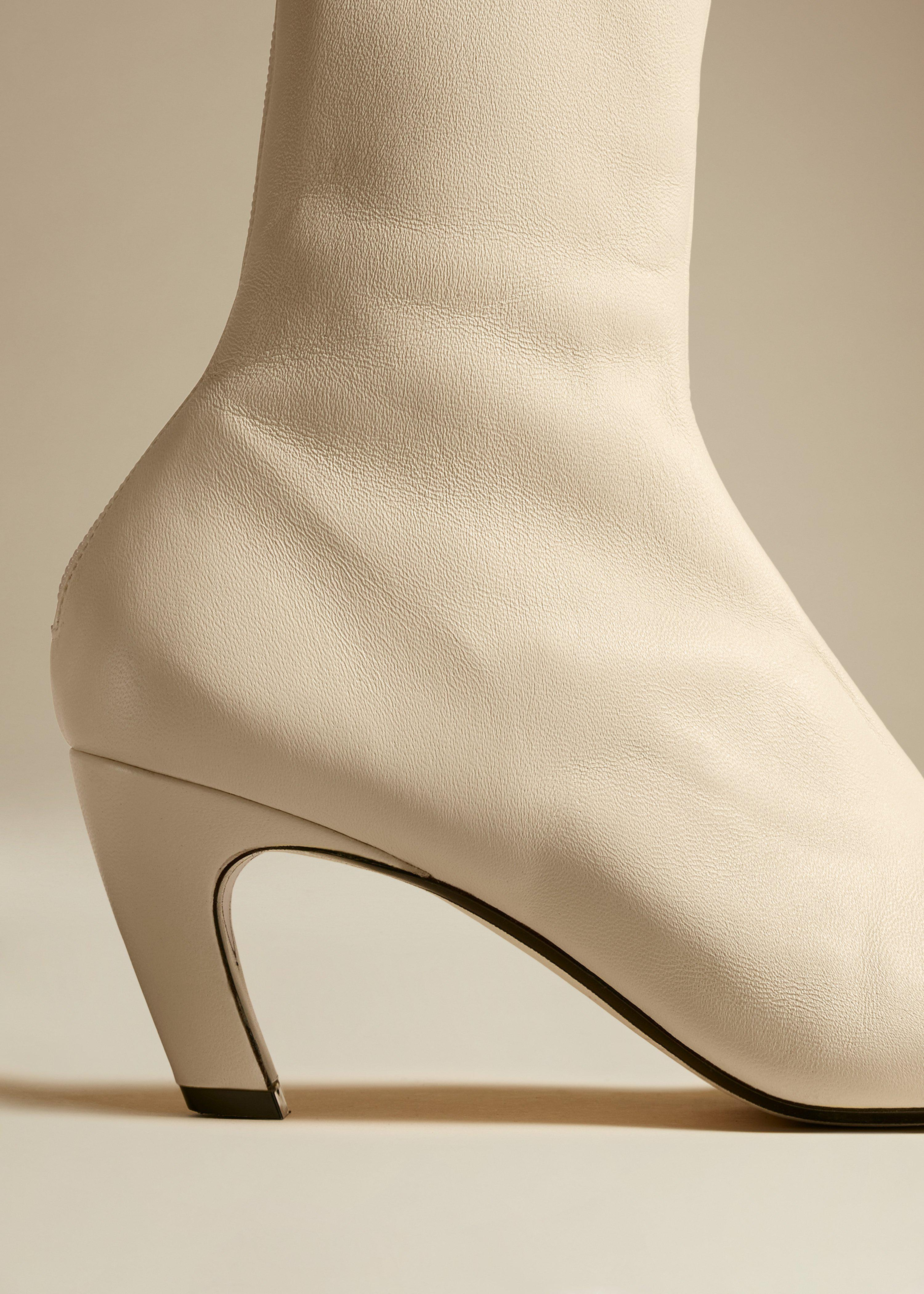 The Normandy Boot in Cream Leather 3