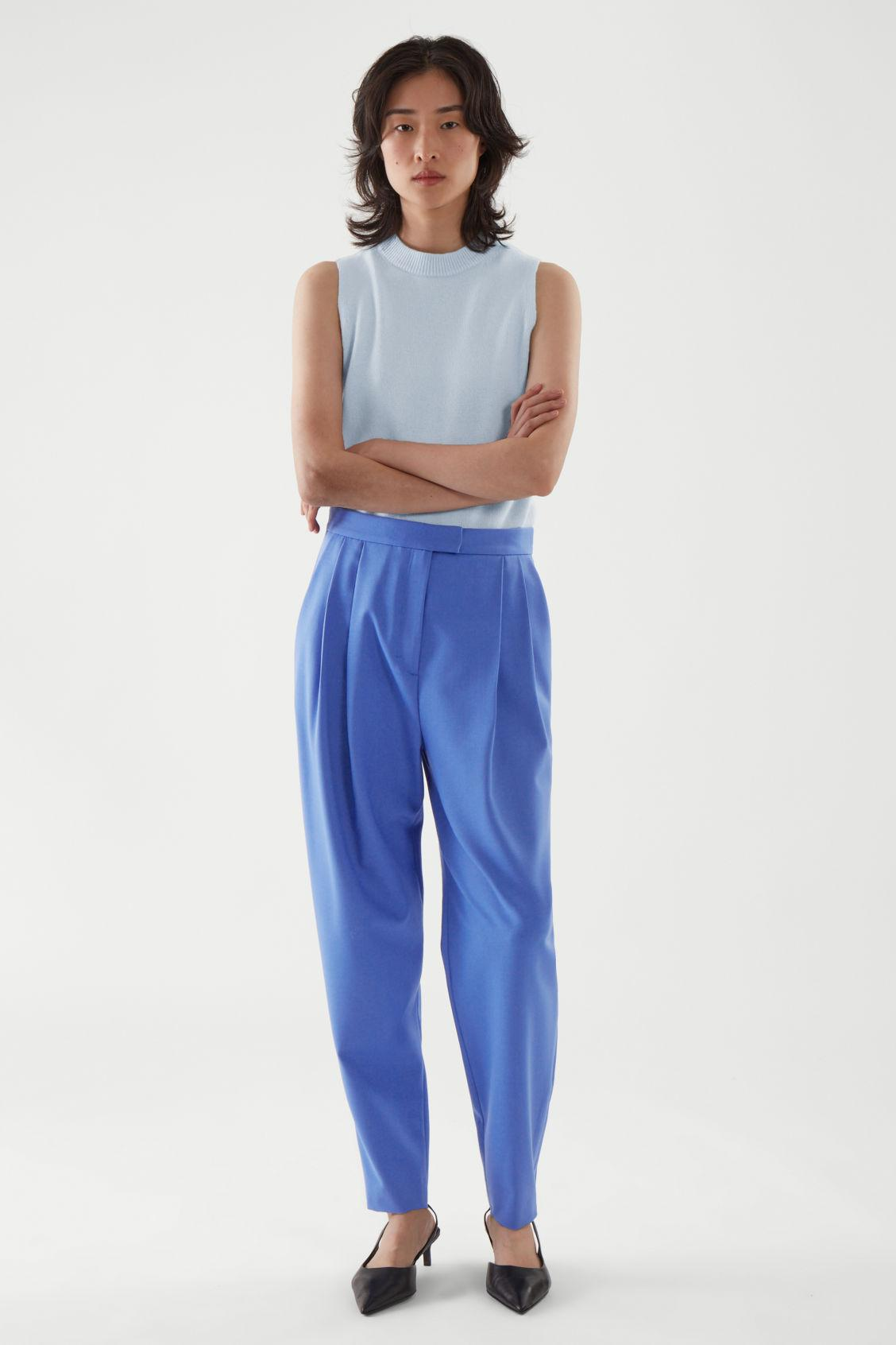 REGULAR-FIT TAPERED PANTS