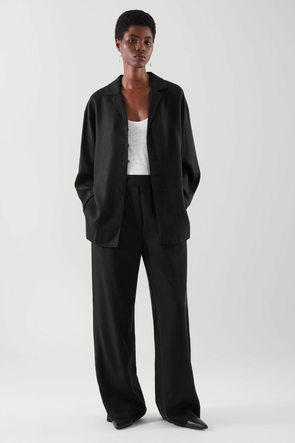 ELASTICATED RELAXED-LEG TROUSERS 1