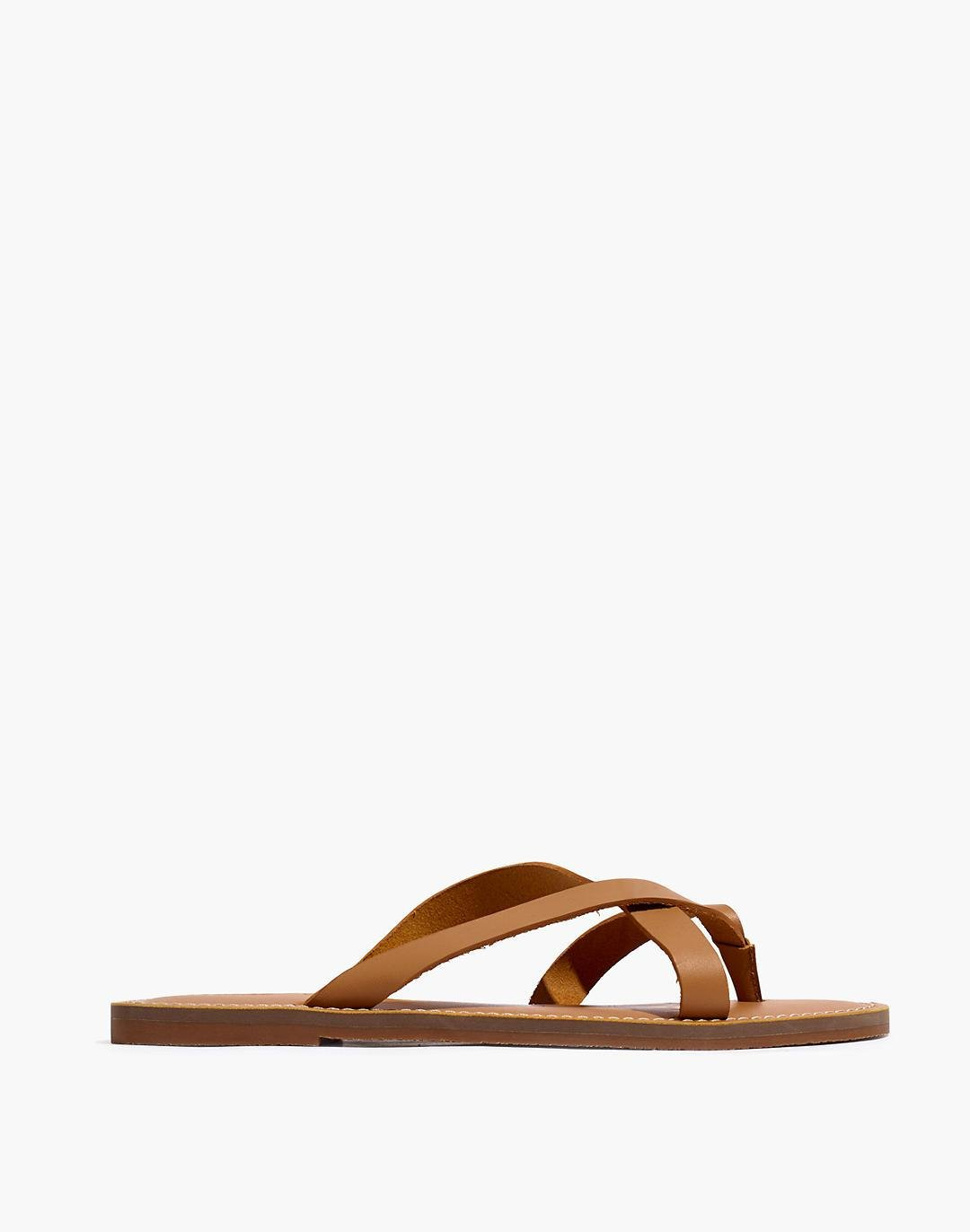 The Boardwalk Thong Sandal in Leather 1