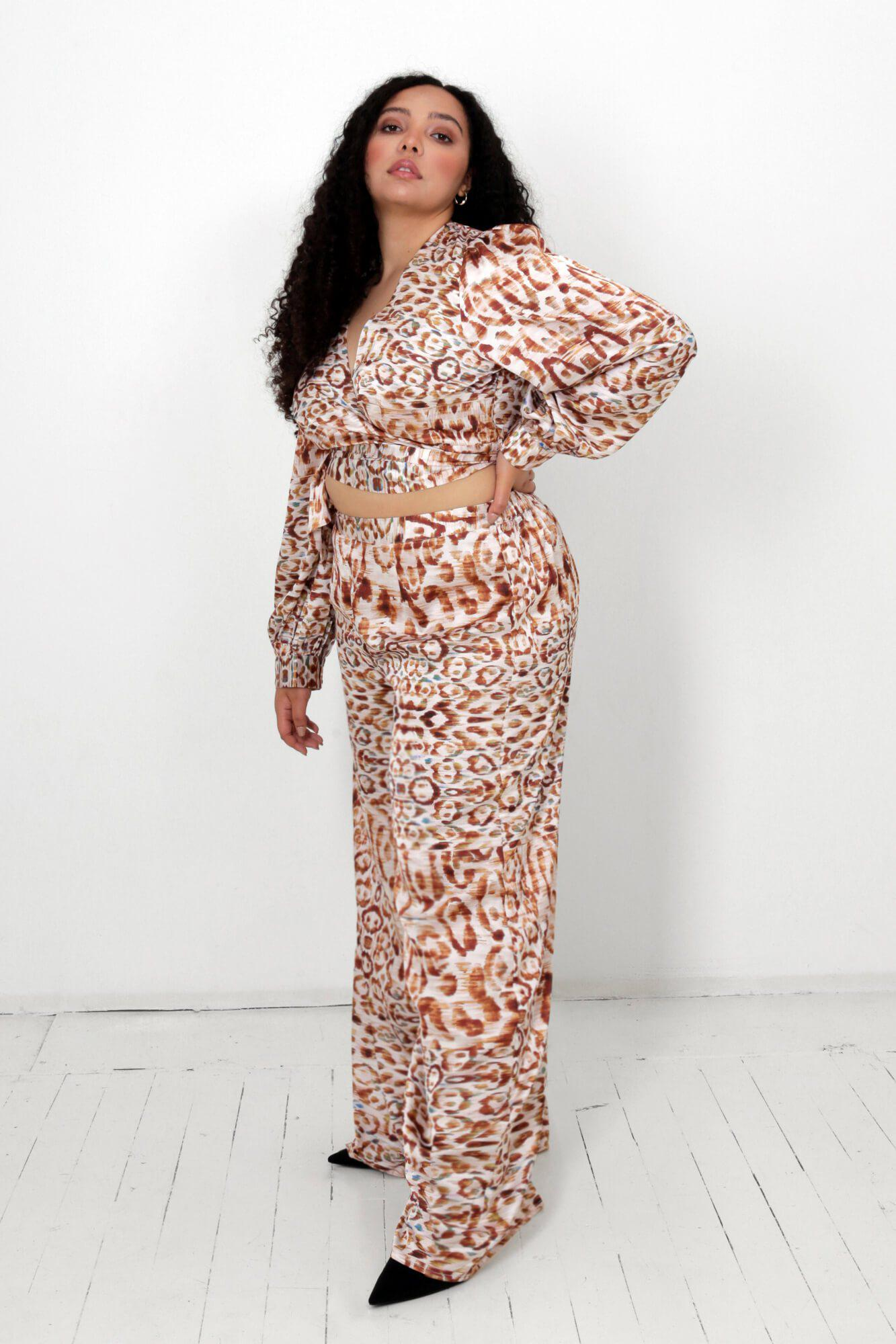 Winter Leopard Isa Wrap Top and Dora Pants Two Piece Set 3