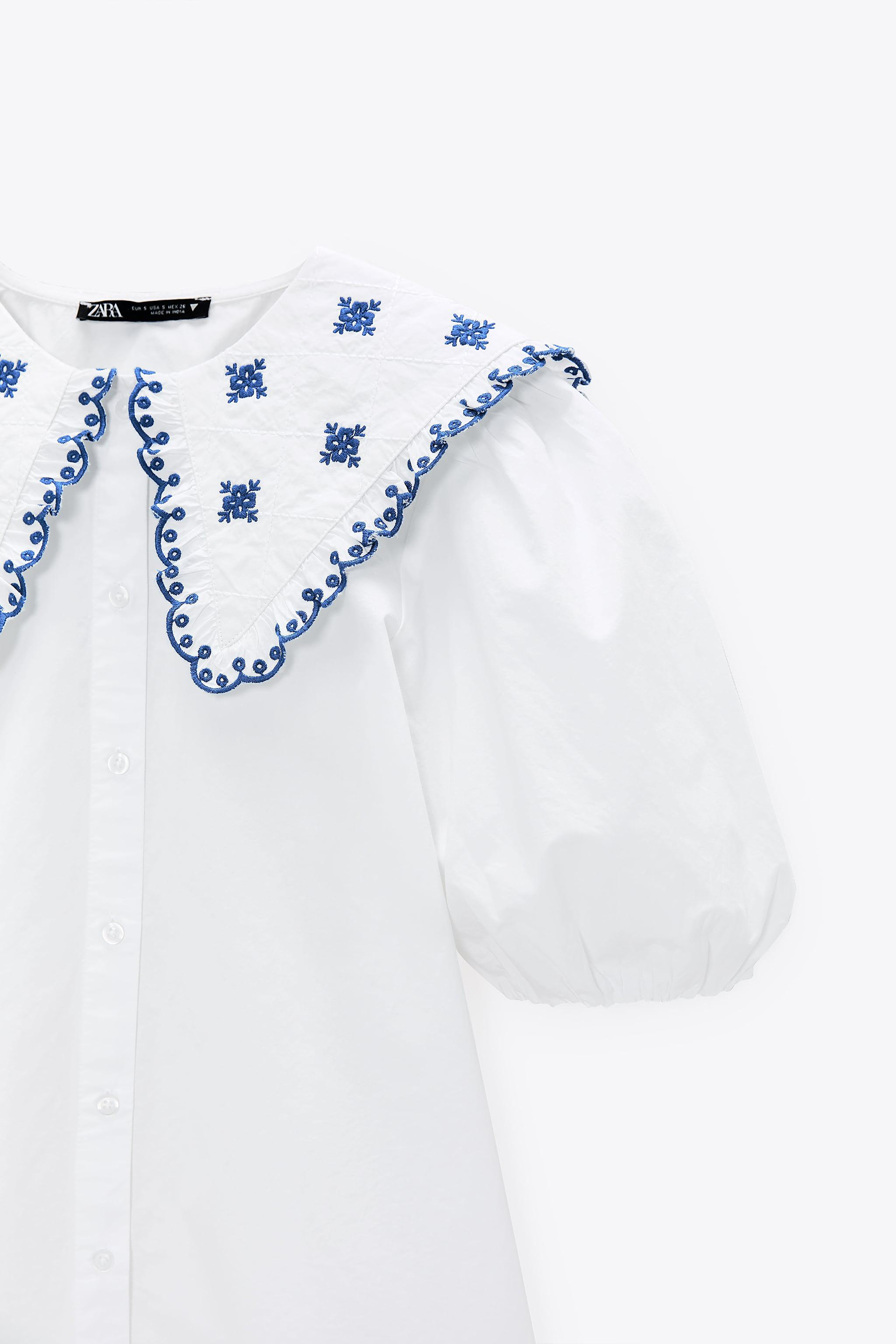 EMBROIDERED POPLIN TOP 7