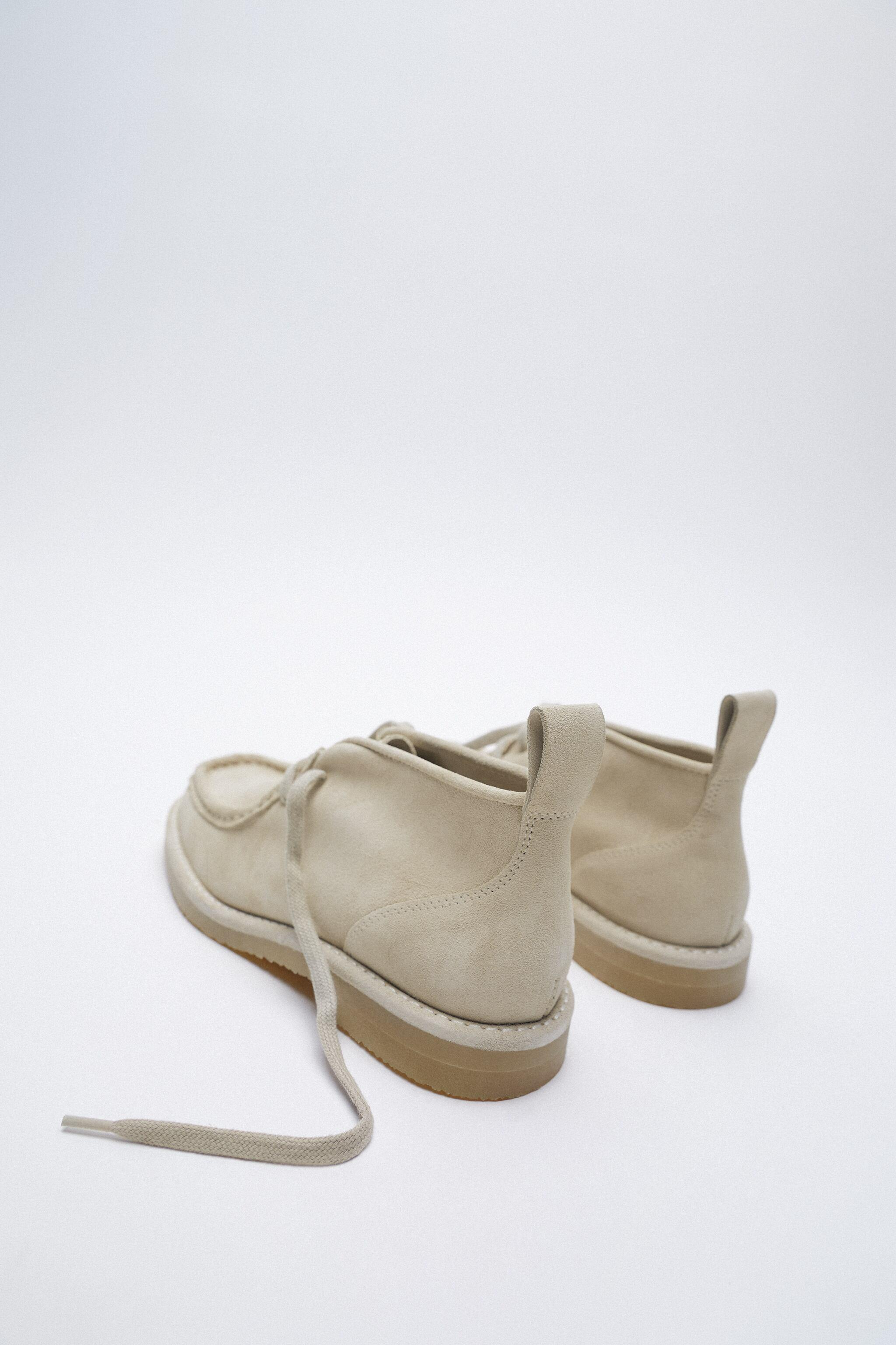 LOW HEEL SPLIT LEATHER ANKLE BOOTS 5