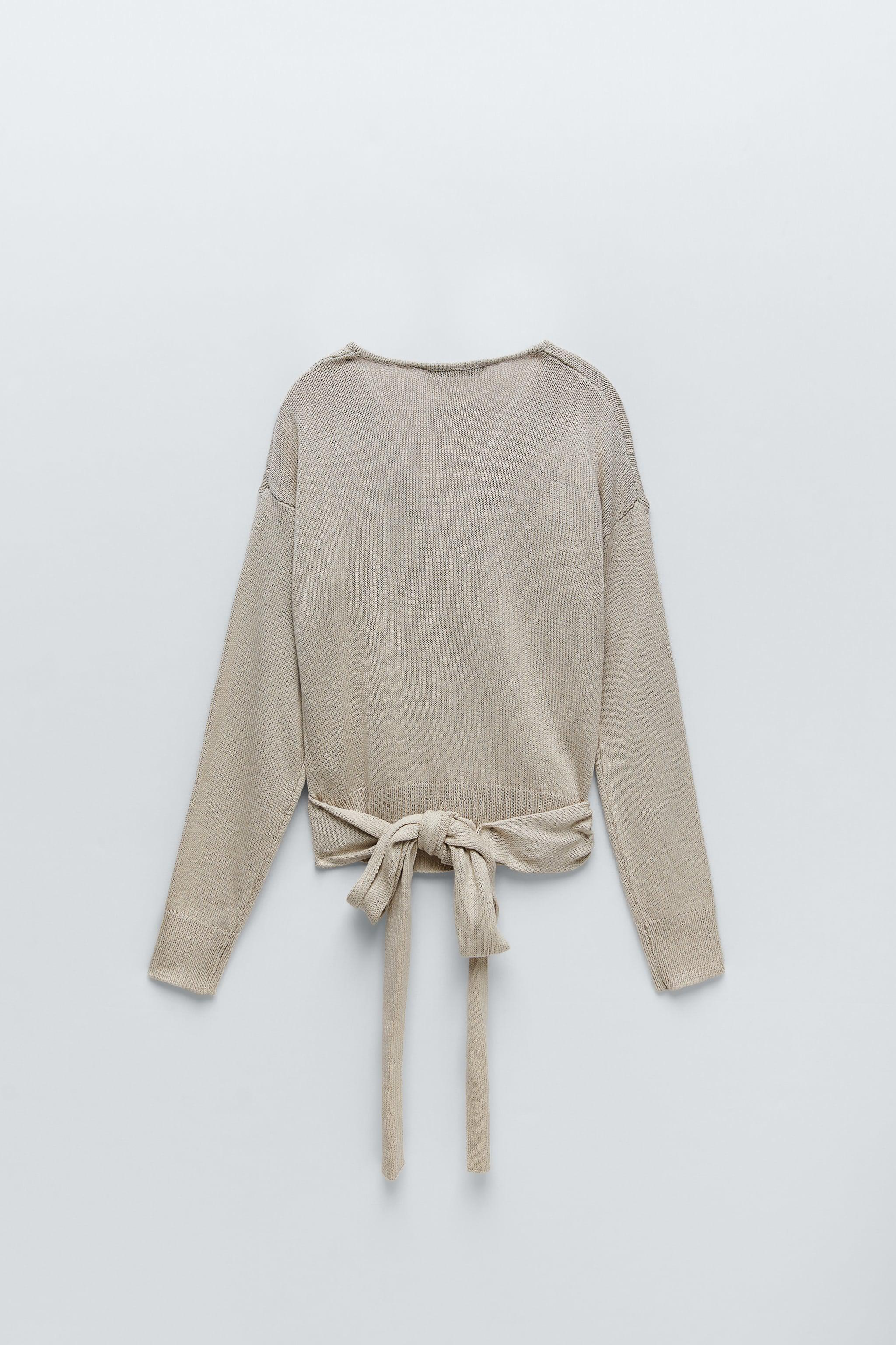 TIED KNIT SWEATER 5