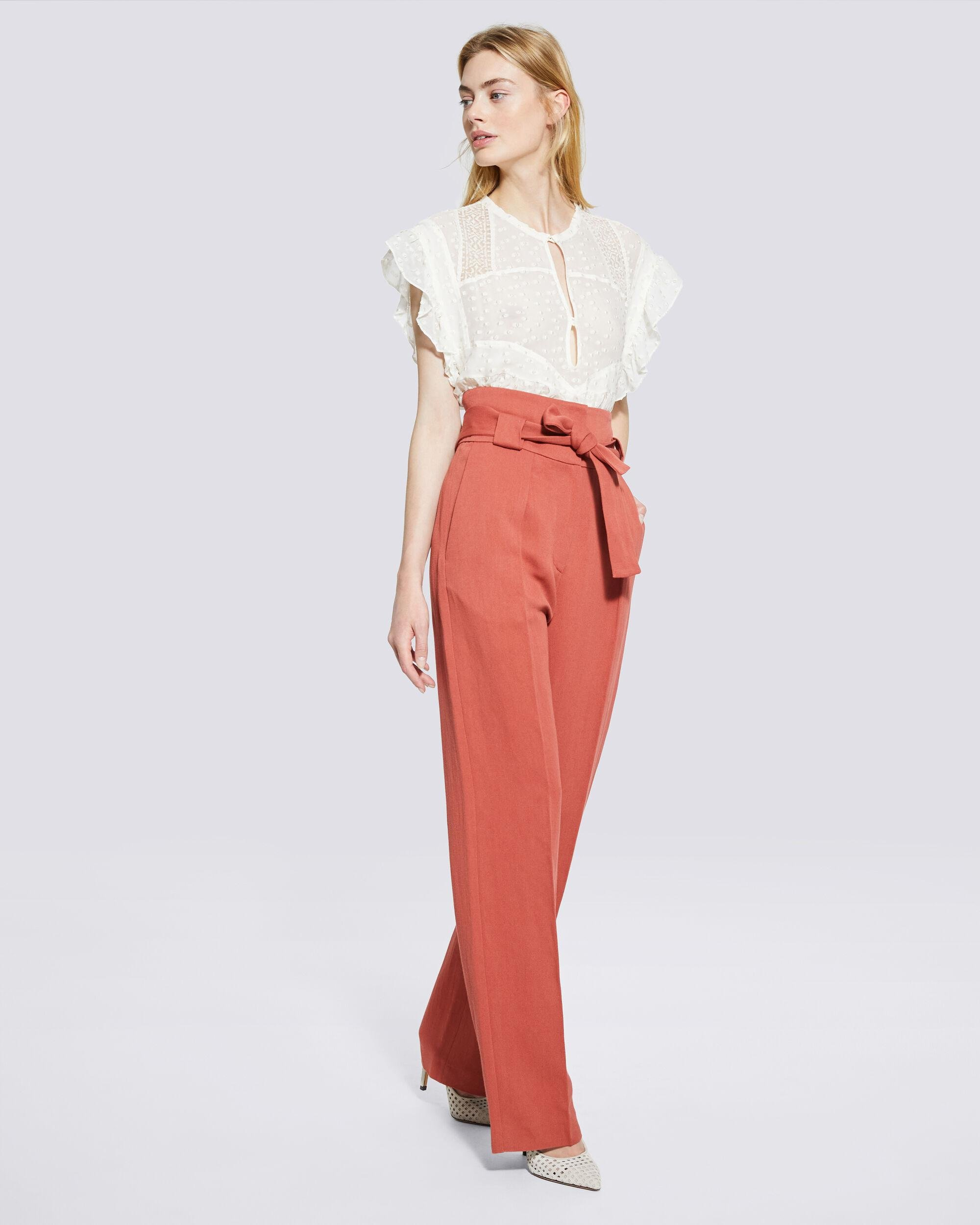 APOLLONIA BELTED WIDE LEG TROUSERS 1
