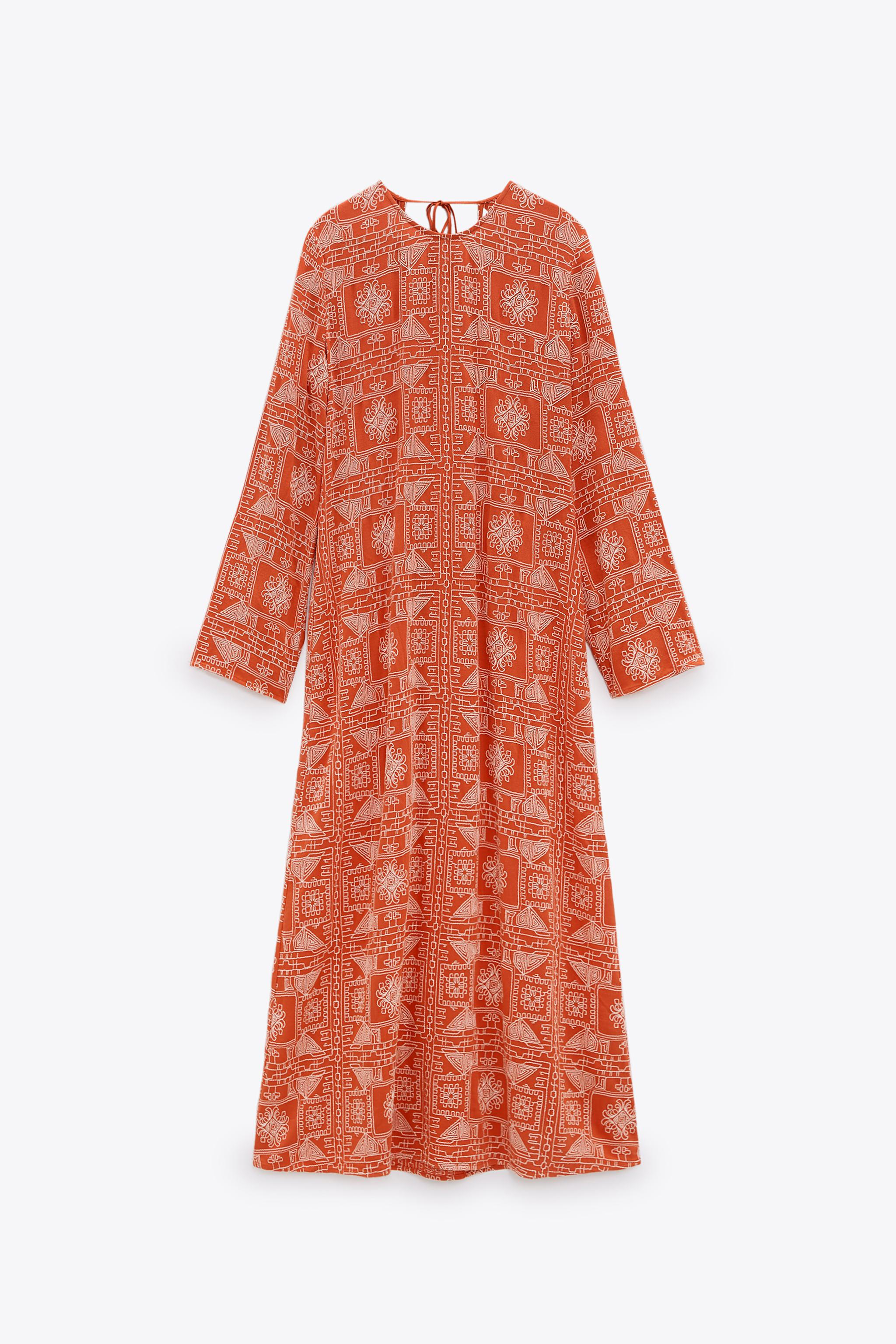 LONG EMBROIDERED DRESS 2