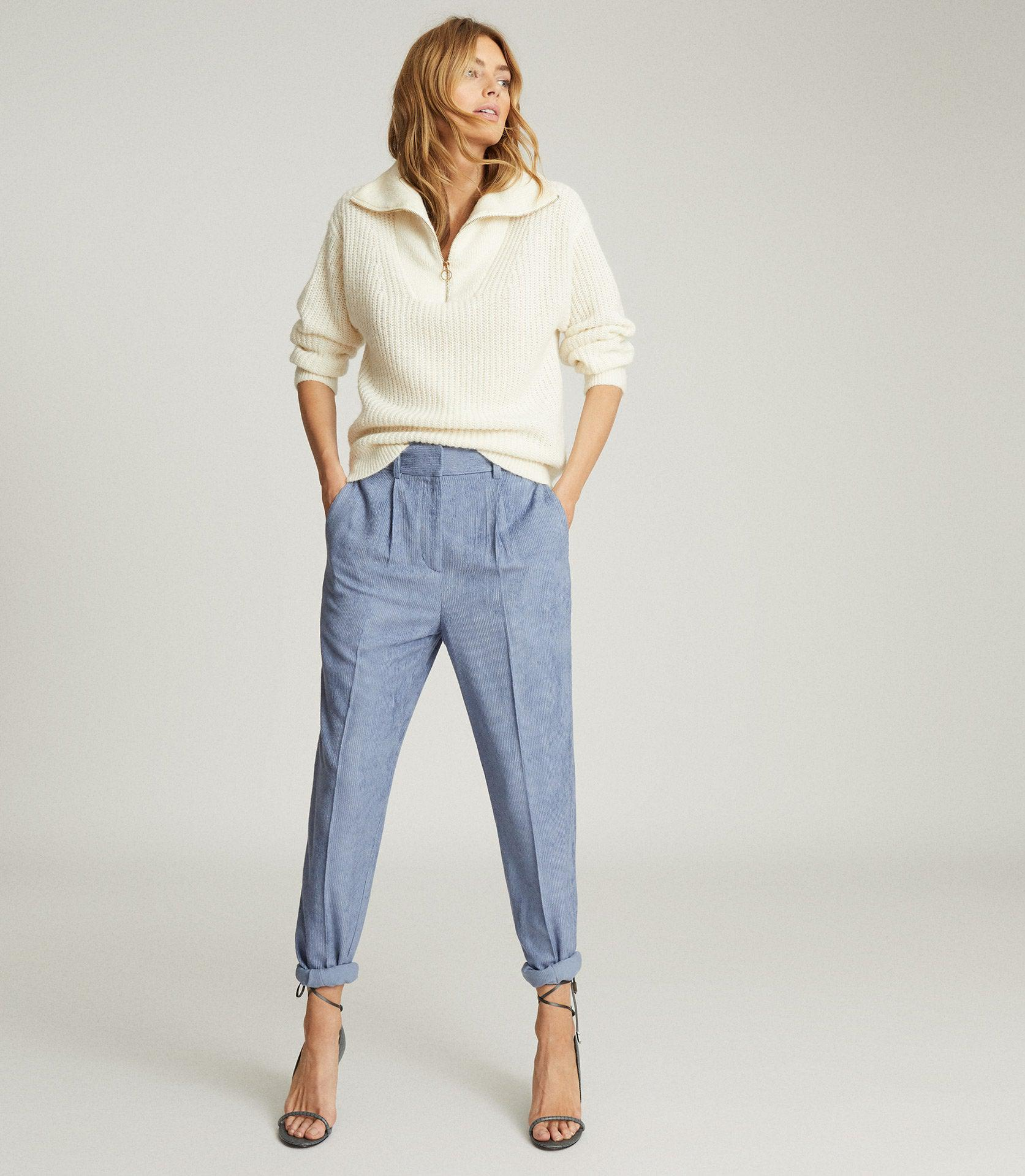 THEA - PLEAT FRONT CORDUROY TROUSERS