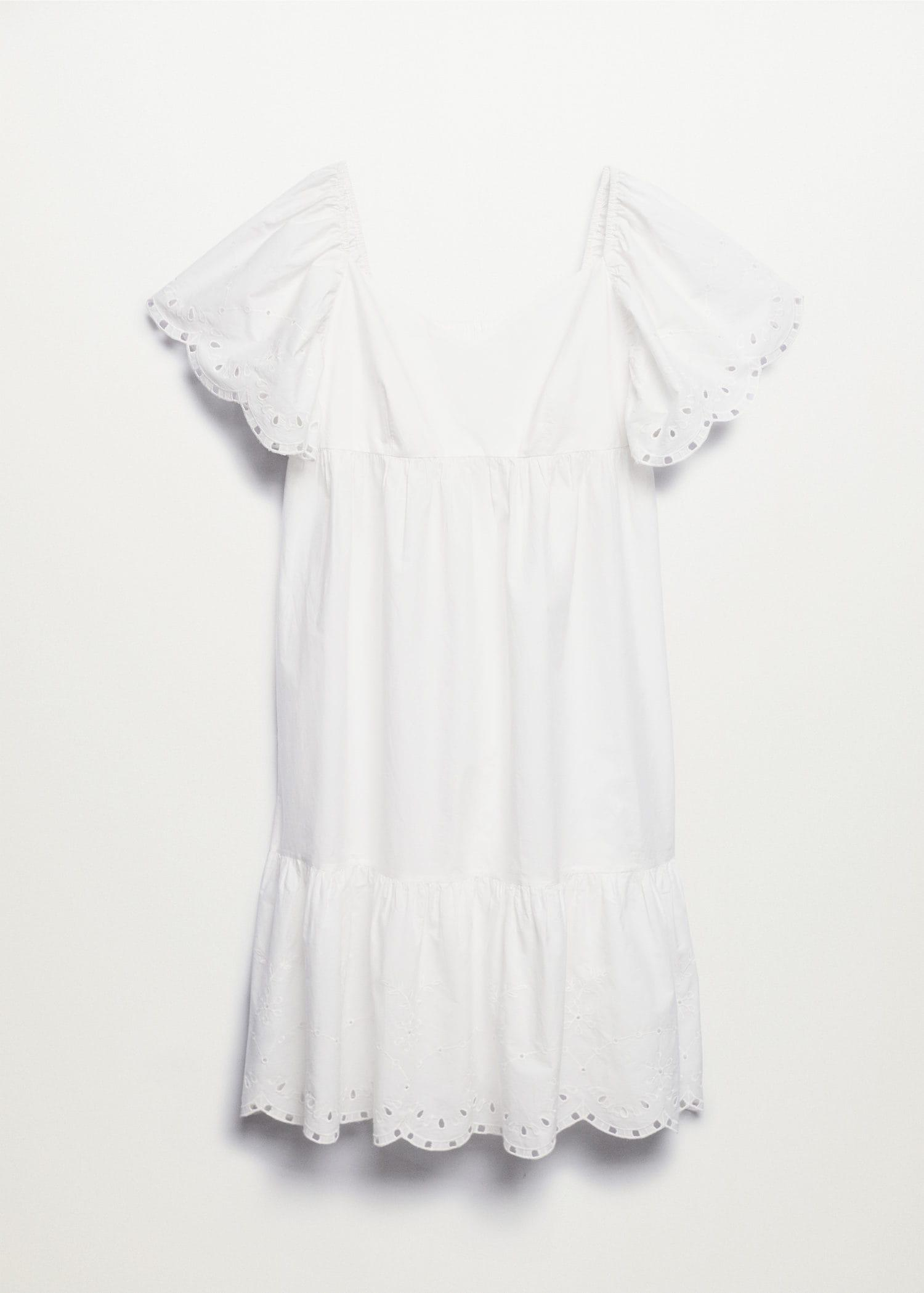 Embroidered cotton dress 7