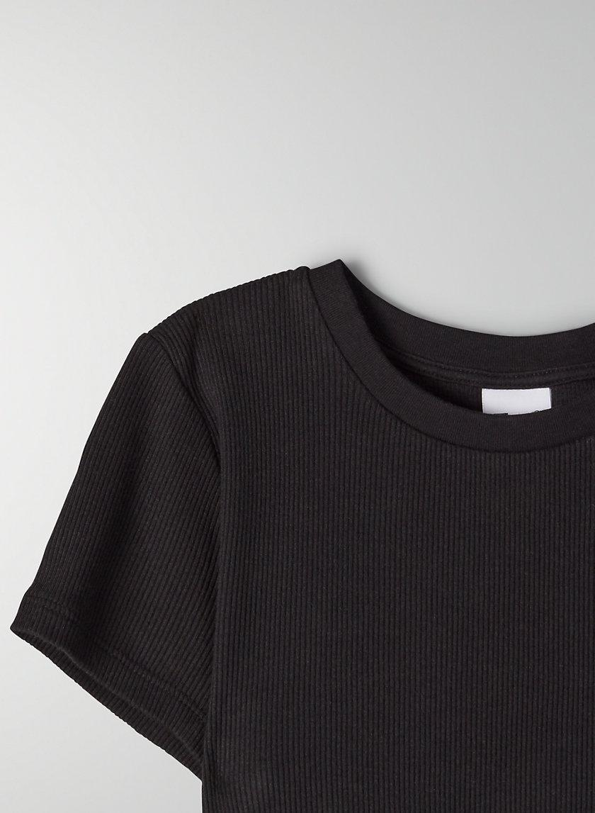 Ribbed Cropped T-Shirt 4