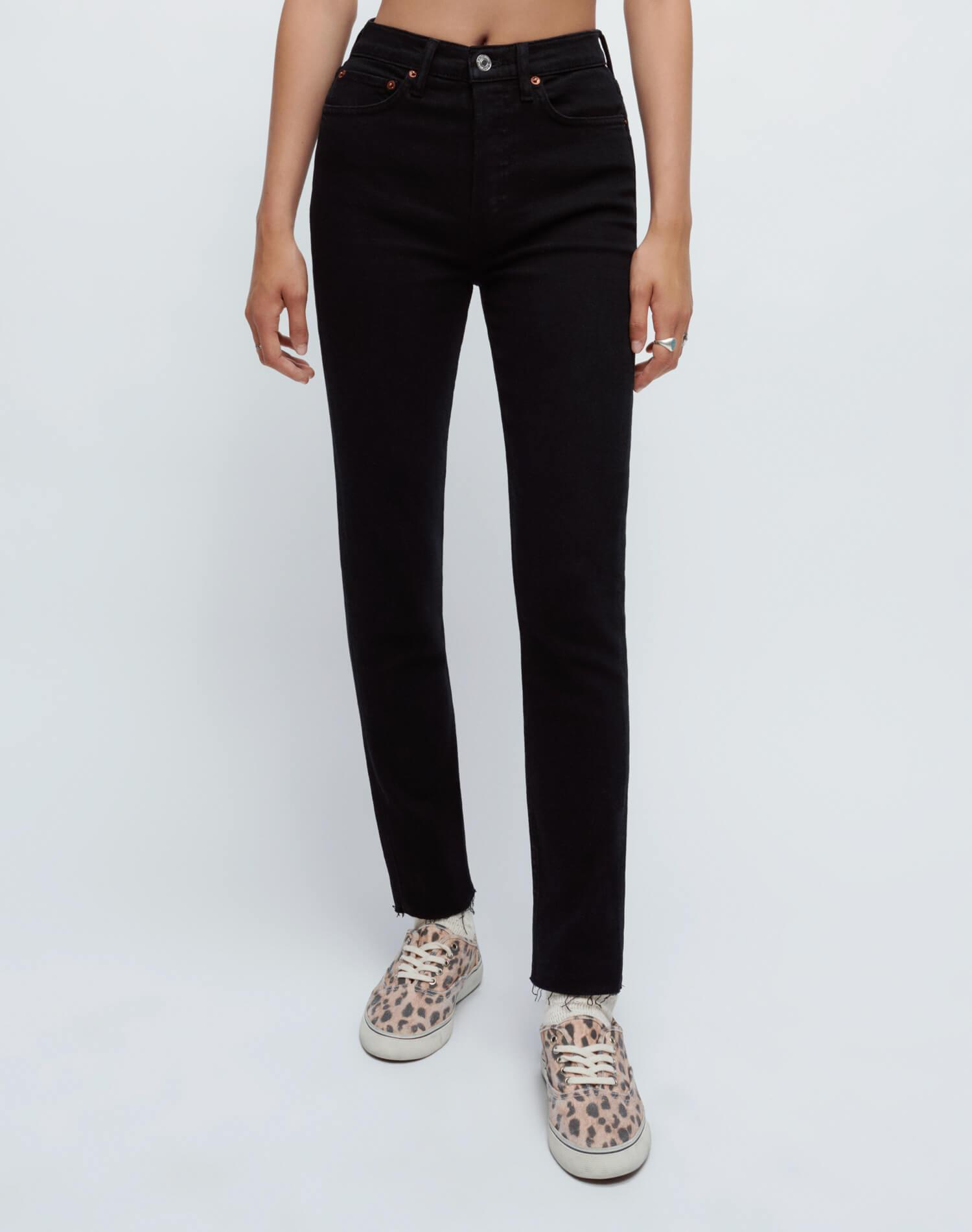 Extra Stretch High Rise Ankle Crop - Jet Blue Black