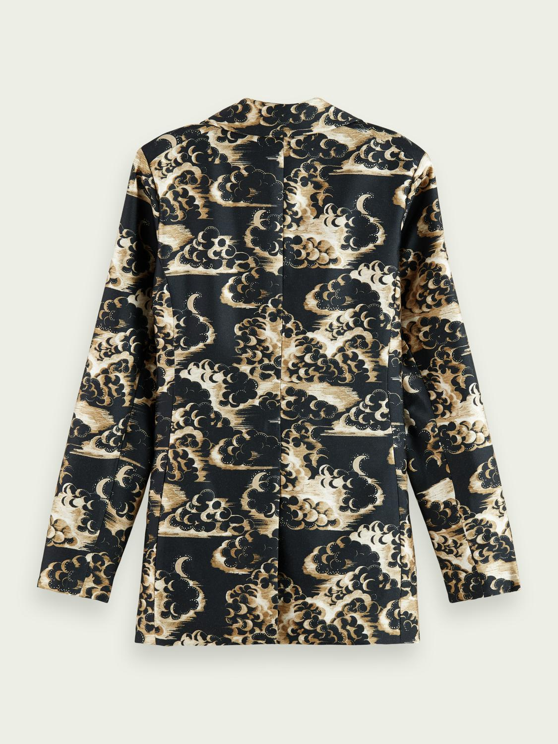 Printed double-breasted blazer 6