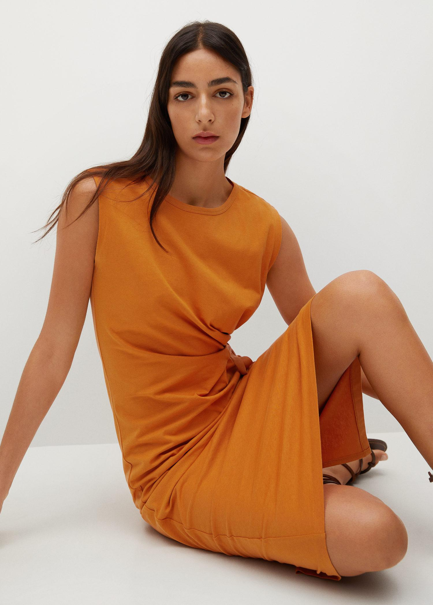 Knotted cotton dress 4