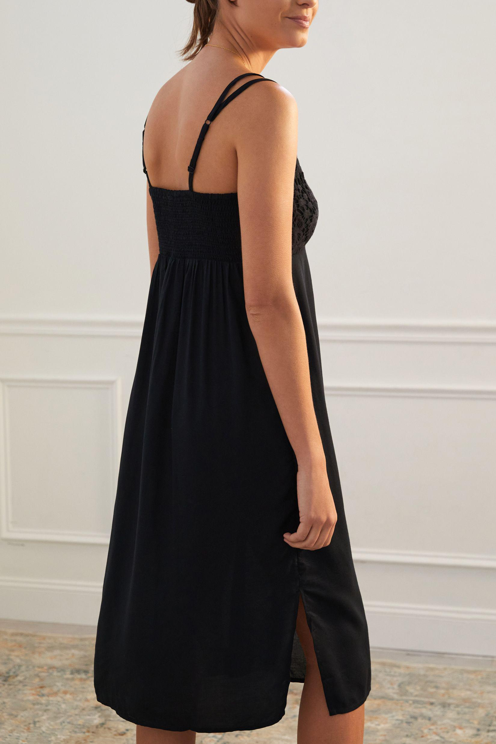 Lace-Accented Slip Dress 1