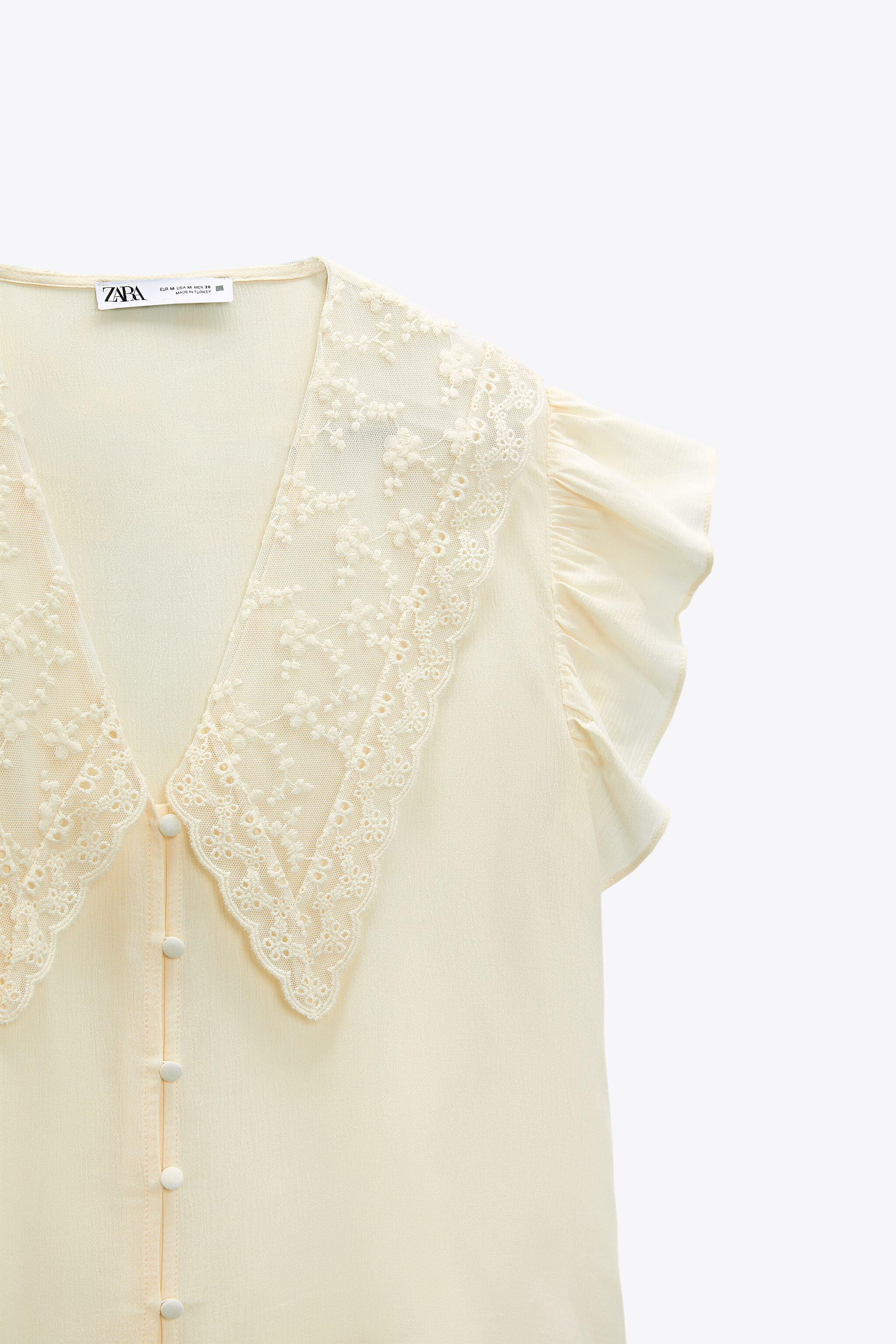EMBROIDERED LAPEL BLOUSE 7