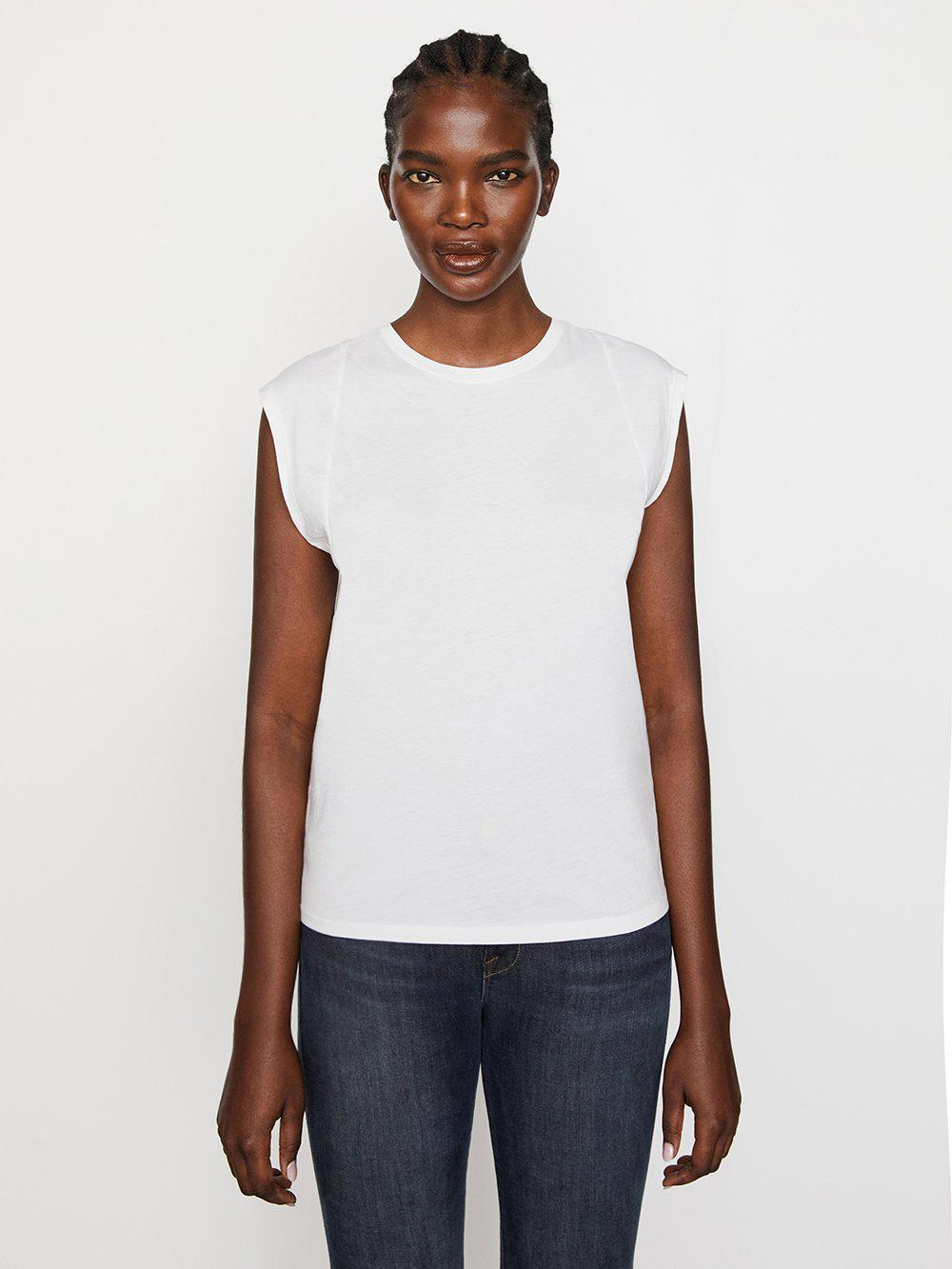 Le Mid Rise Muscle Tee -- Blanc