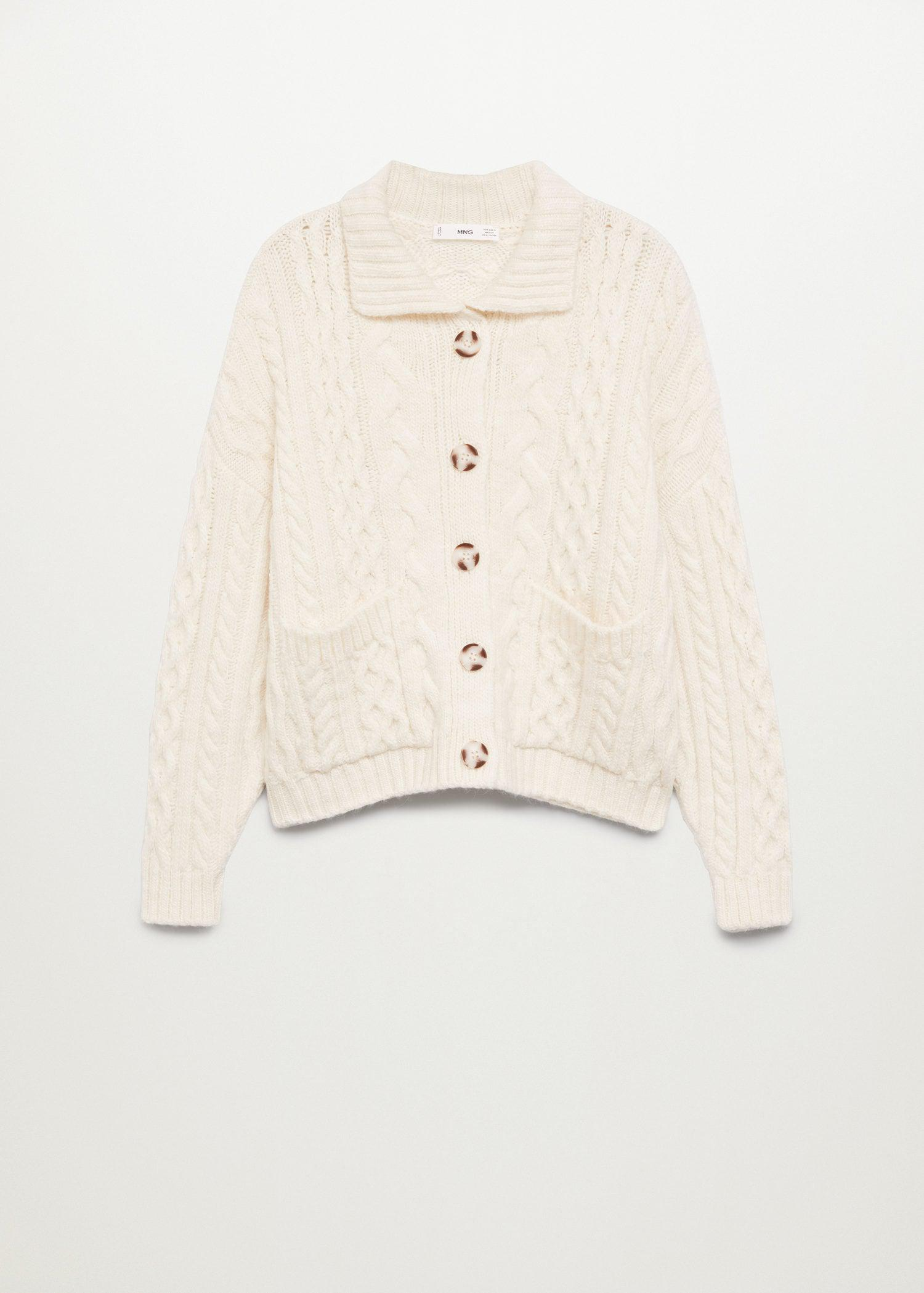 Combined knitted cardigan 7