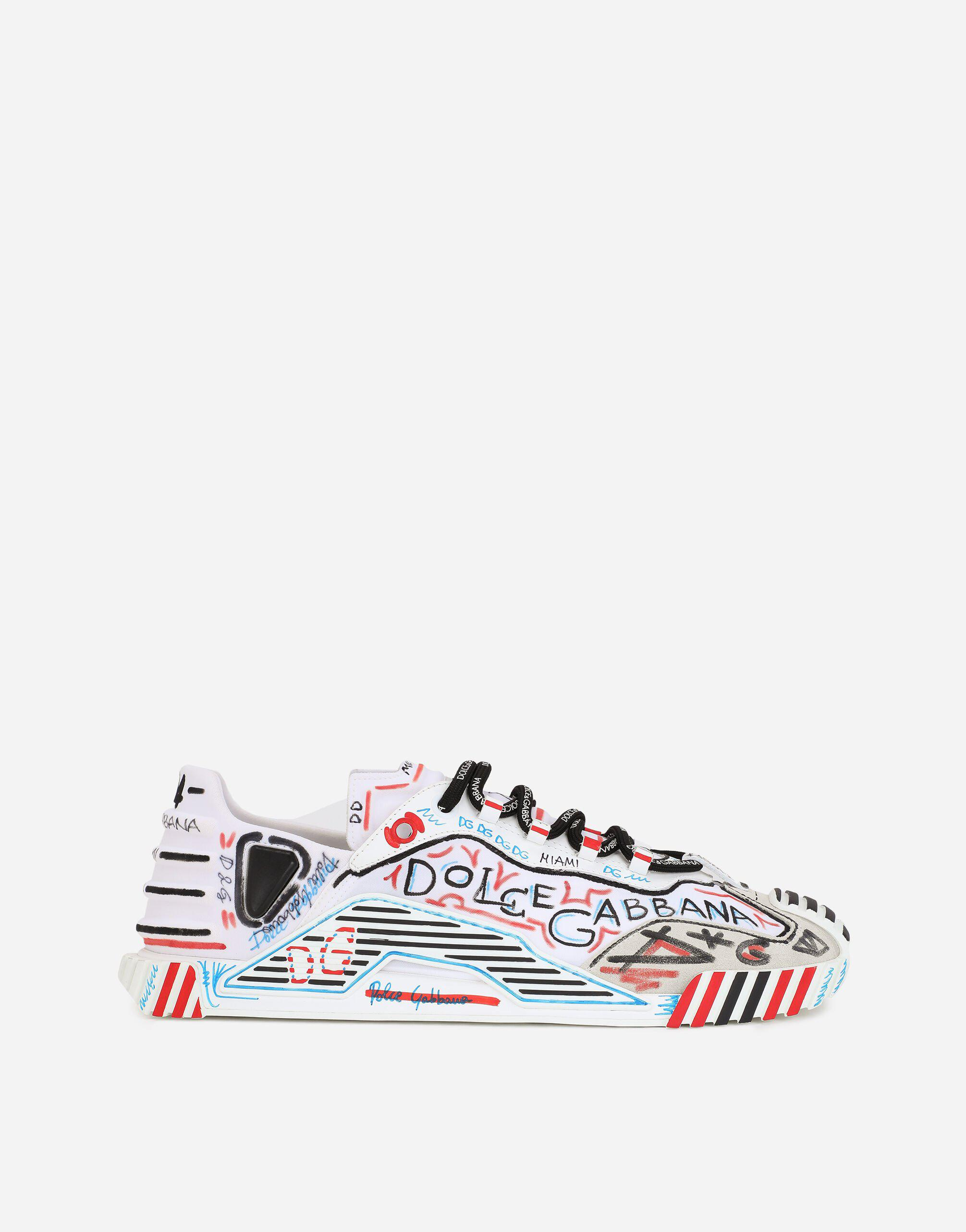 Mixed-materials Miami NS1 slip-on sneakers
