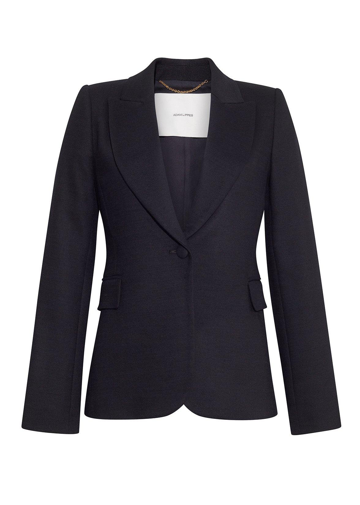 SINGLE BREASTED BLAZER IN DOUBLE FACE WOOL 1