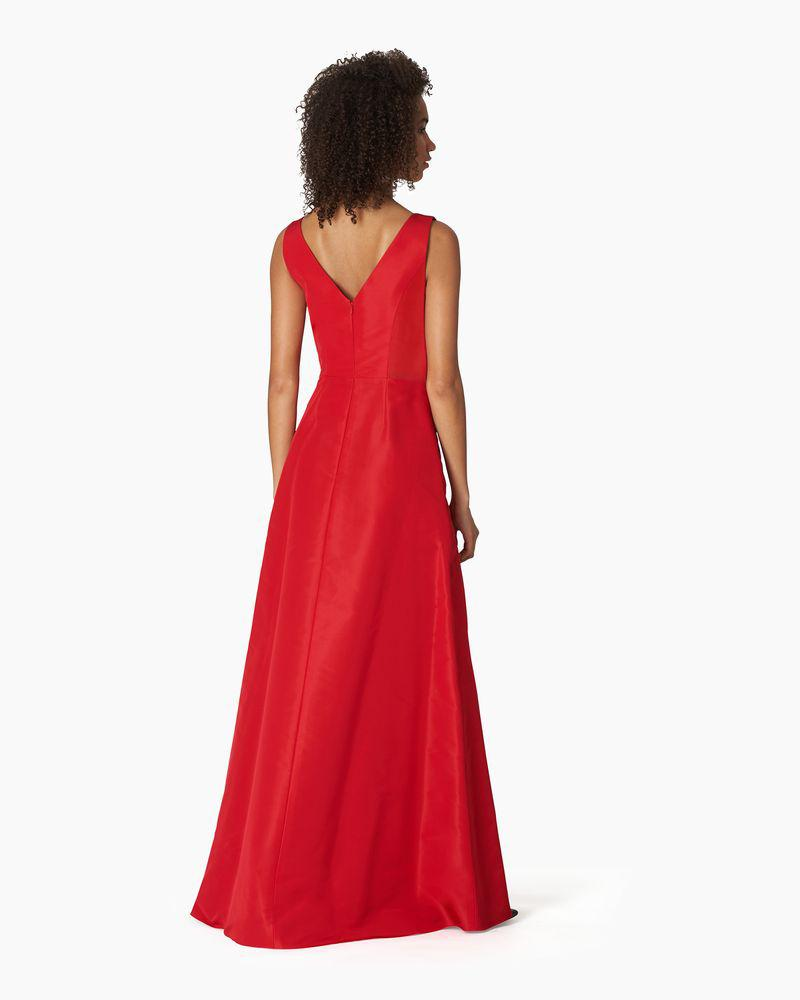 V-neck Gown With Cascade Draped Skirt 1