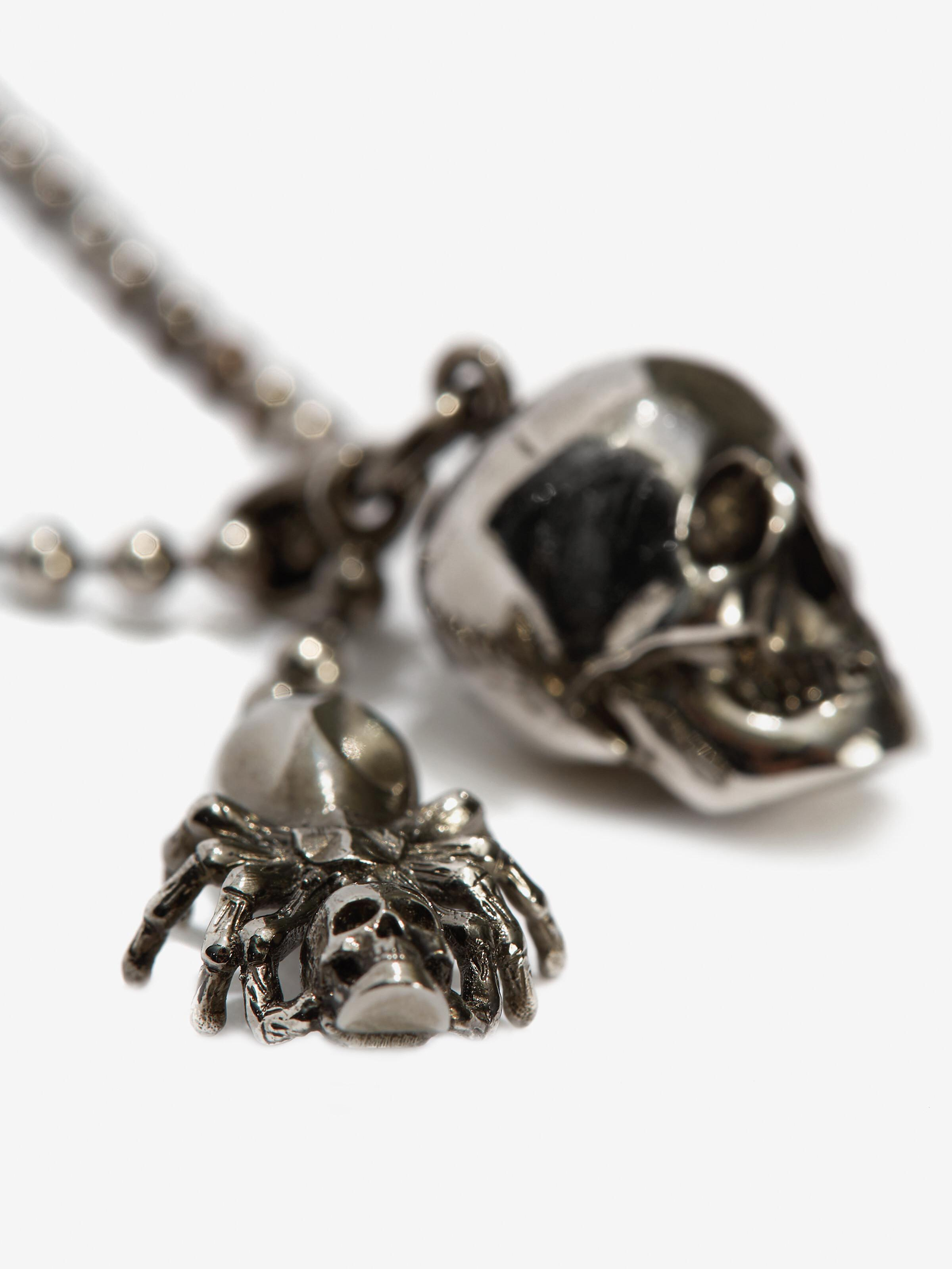 Spider and Skull Necklace 2