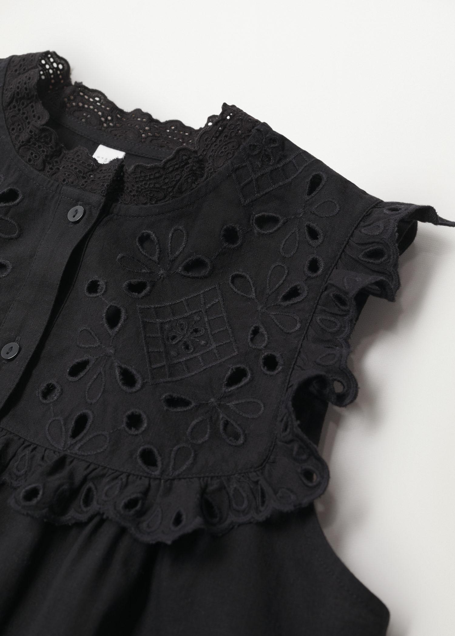 Swiss embroidery cotton blouse 7