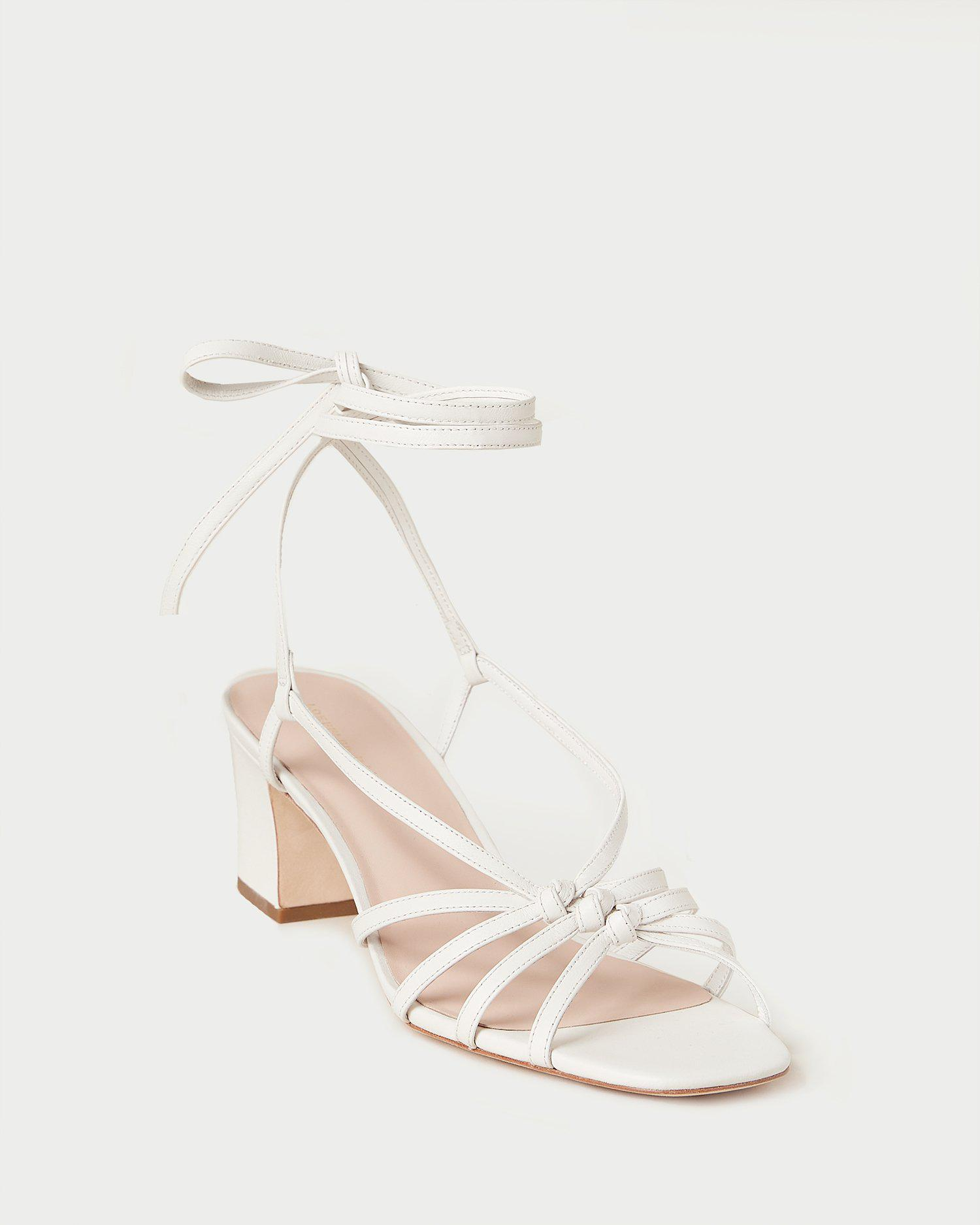 Libby White Knotted Wrap Sandal