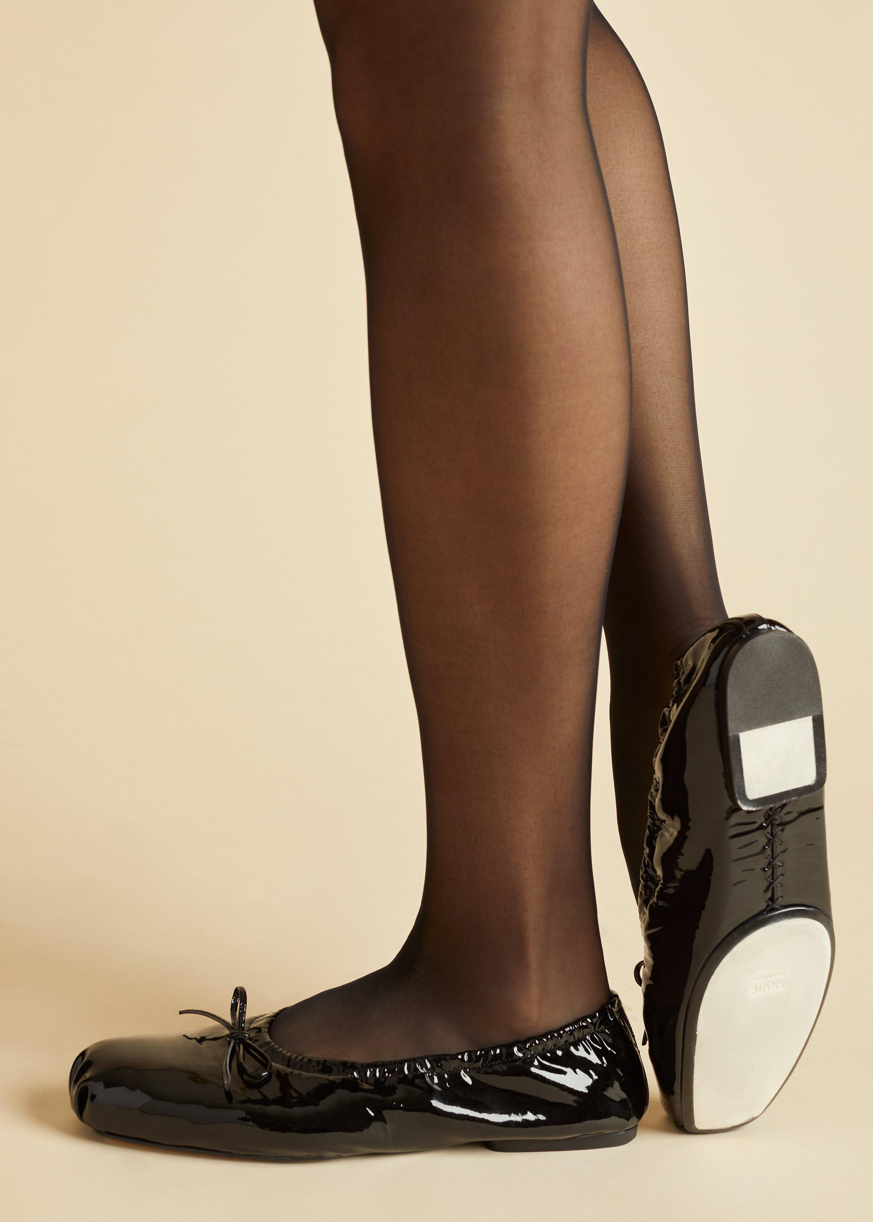 The Ashland Ballet Flat in Black Patent Leather 3