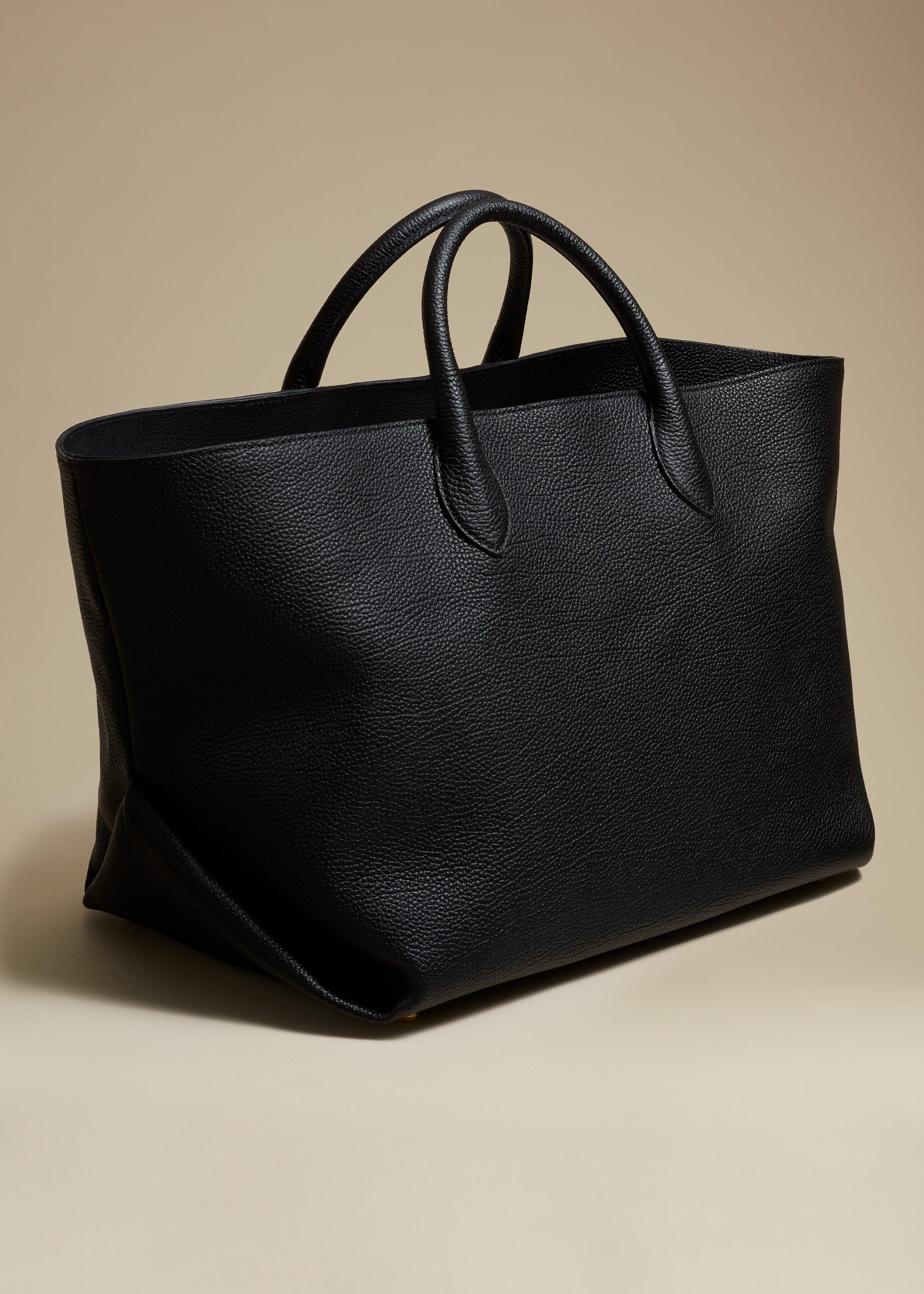 The Medium Amelia Tote in Black Grained Leather 1